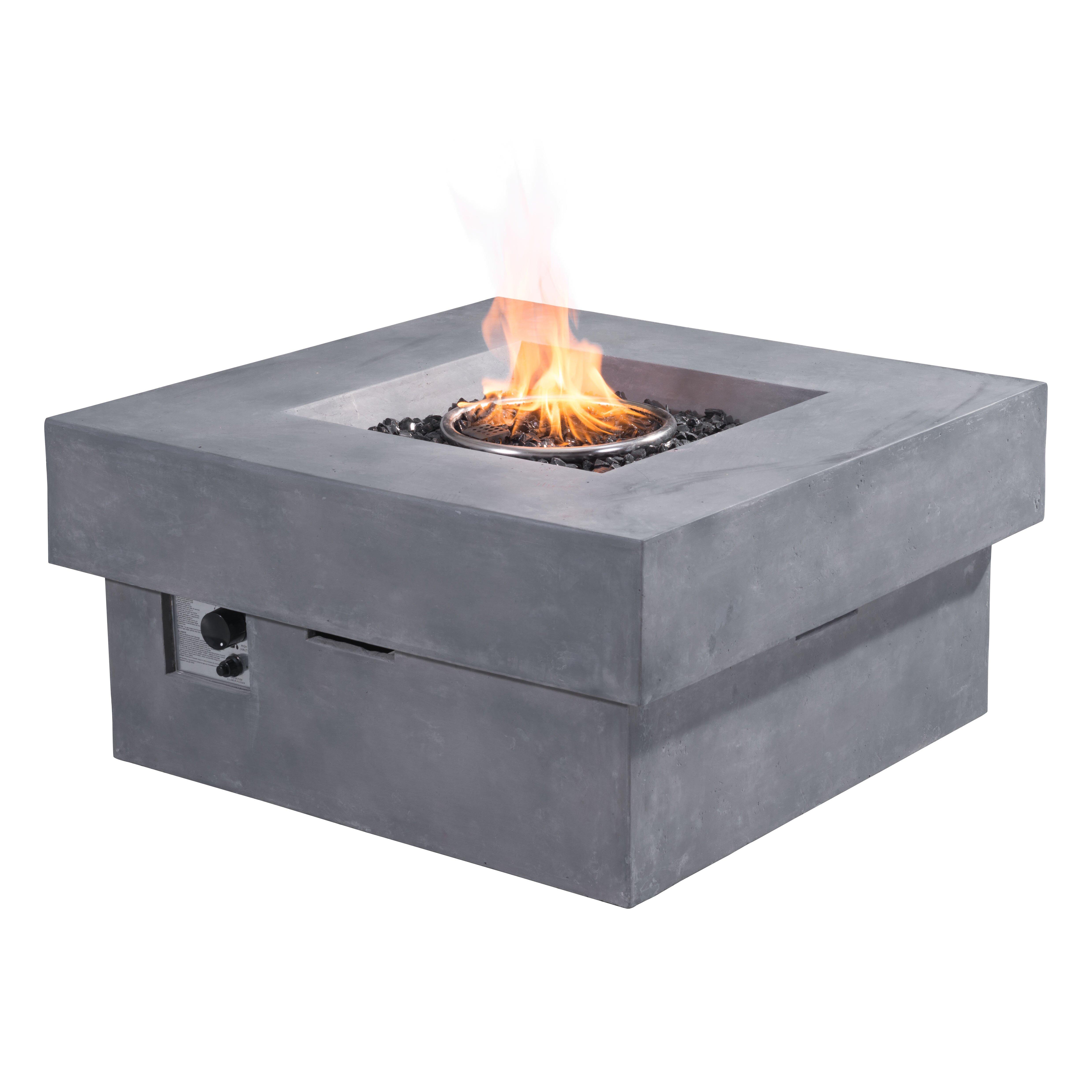 Zuo Modern Diablo Concrete Fiber Propane Fire Pit