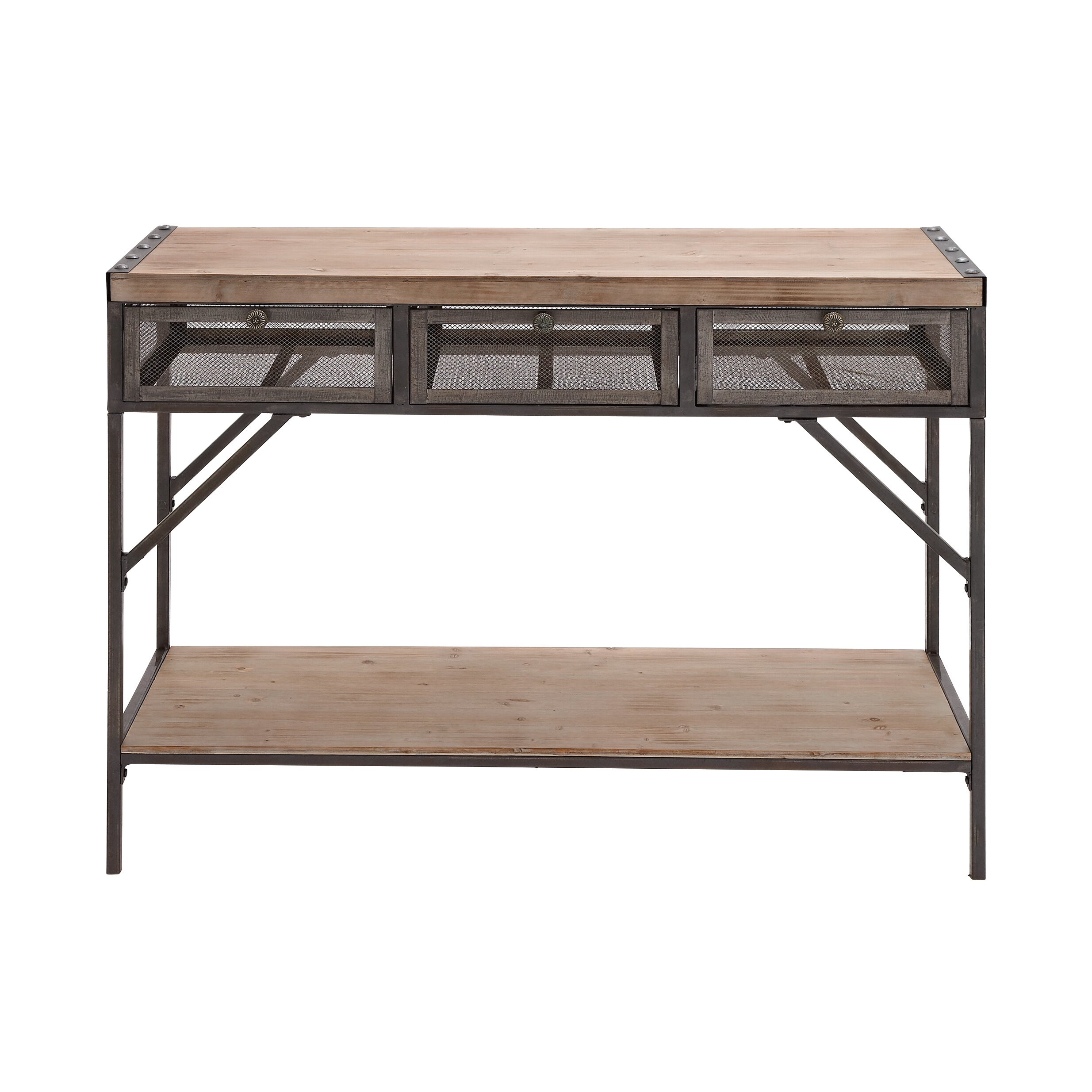 ... Imports Perfect Wood & Metal Console Table & Reviews  Wayfair