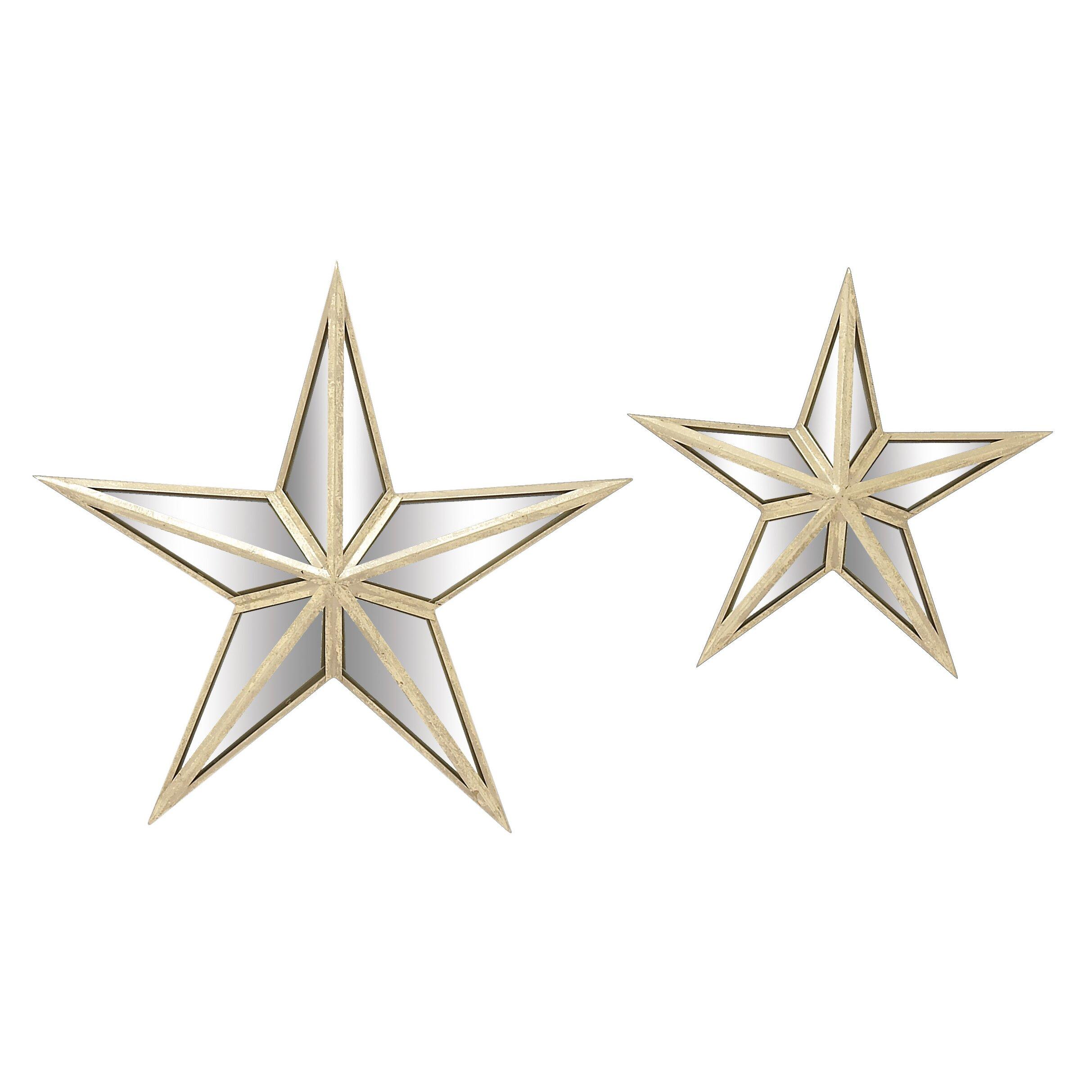 Woodland Imports 2 Piece Star Wall Mirror Set Amp Reviews