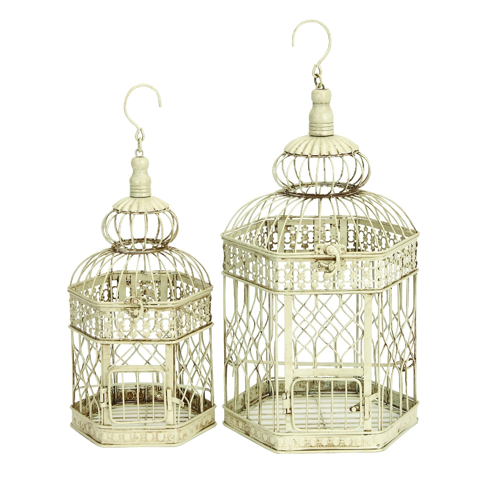 Darby Home Co 2 Piece Decorative Metal Bird Cage Set & Reviews ...