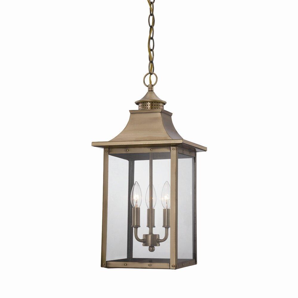 Wayfair Outdoor Hanging Lights: Acclaim Lighting St. Charles 3 Light Outdoor Hanging