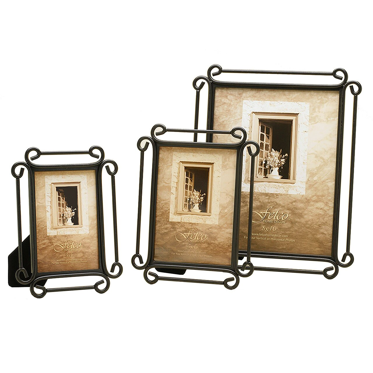 Fetco Home Decor Tuscan Alton Corner Scroll Picture Frame