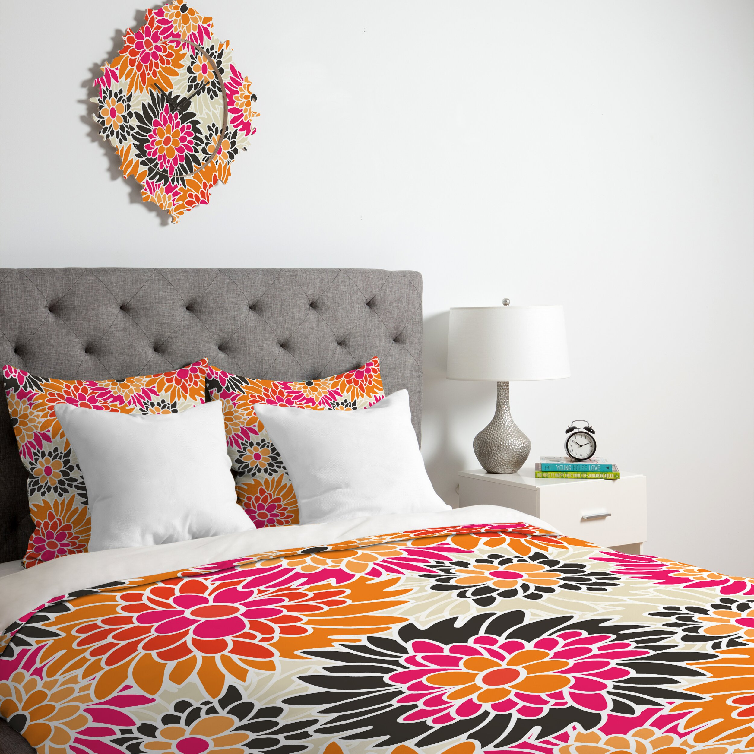 Pin Up Bed Covers Deny Designs Andrea Victoria Summer Tango Floral Duvet