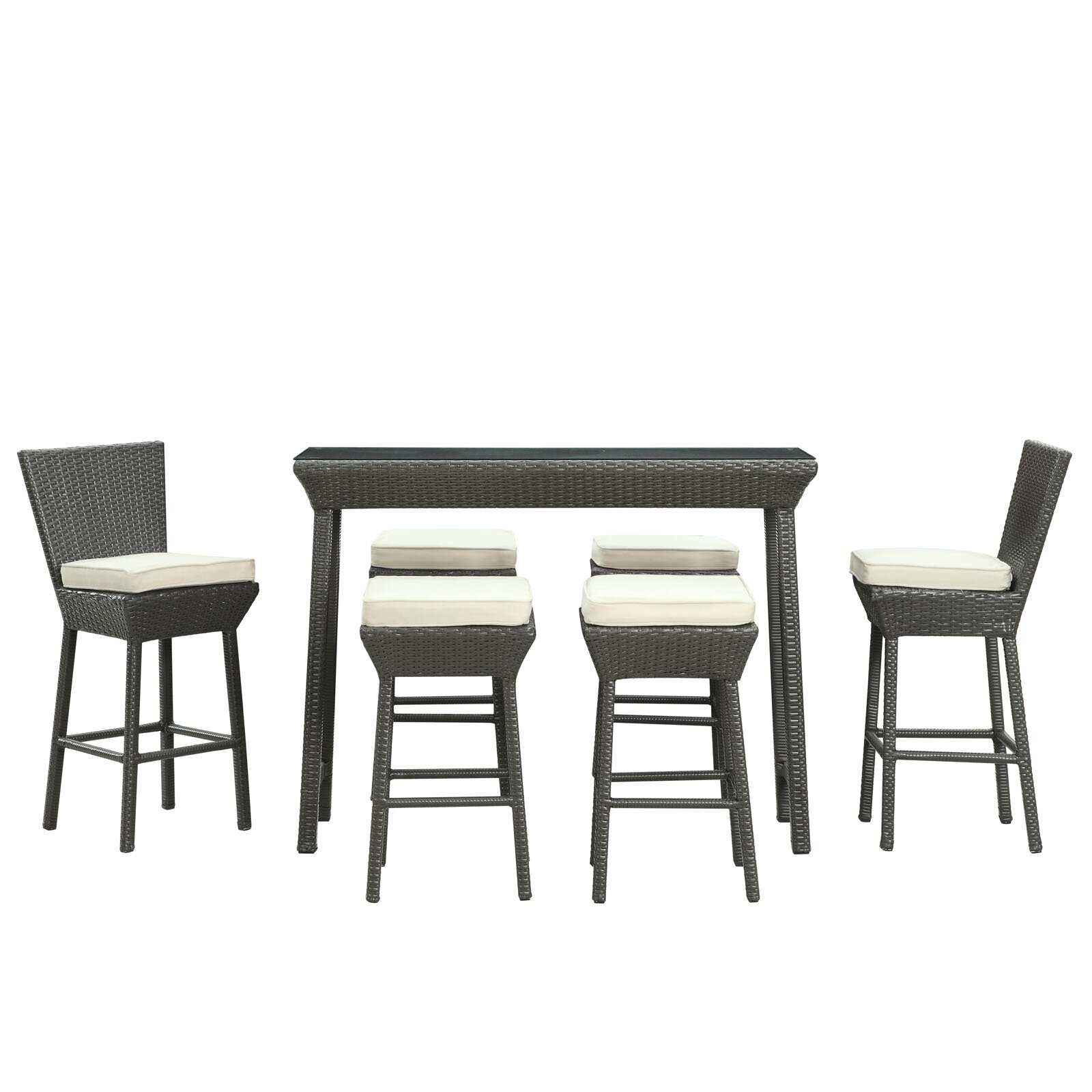 Napa Gathering Collection Modway Napa Outdoor Piece Bar Set With Cushions