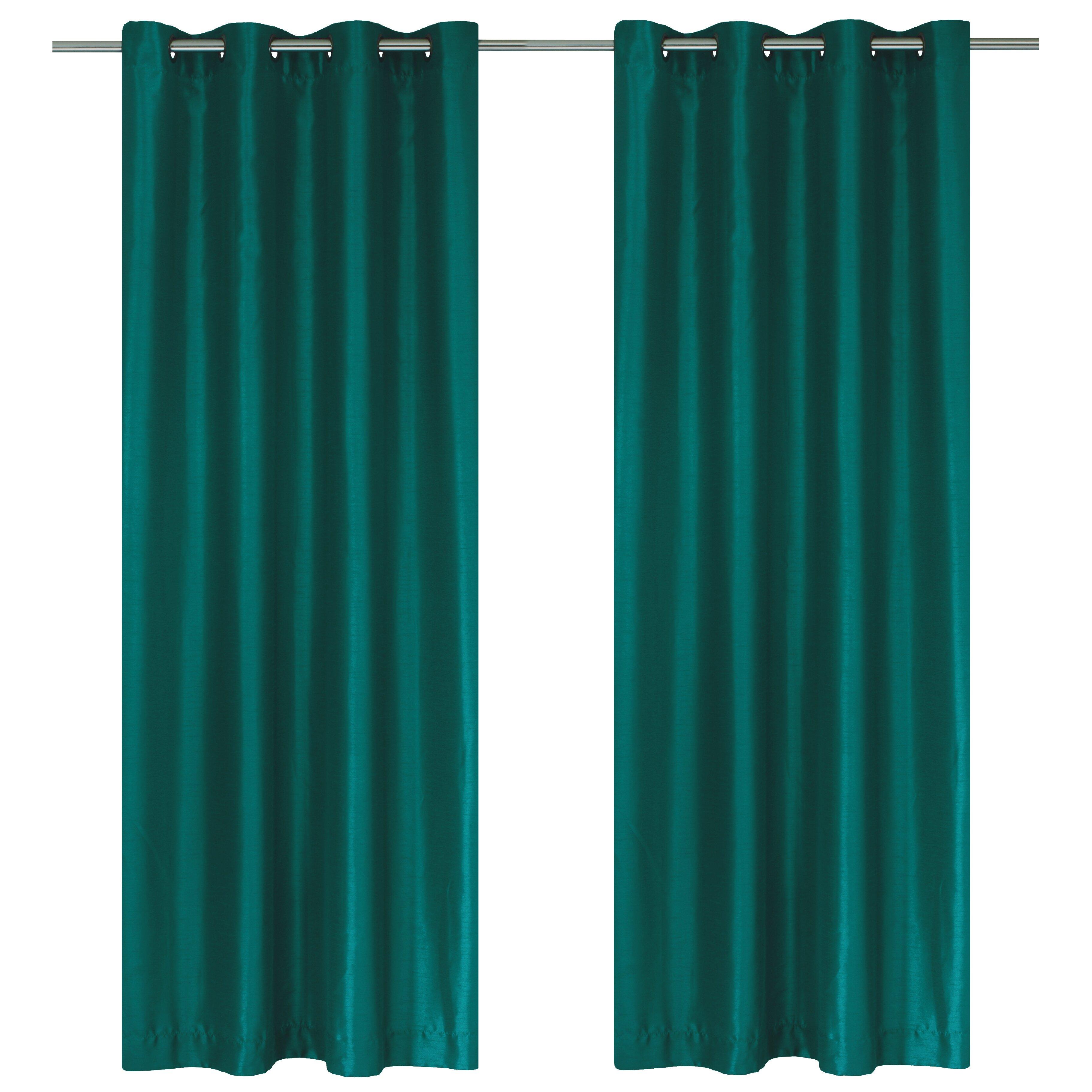 Lj Home Silkana Faux Silk Grommet Curtain Panel Amp Reviews
