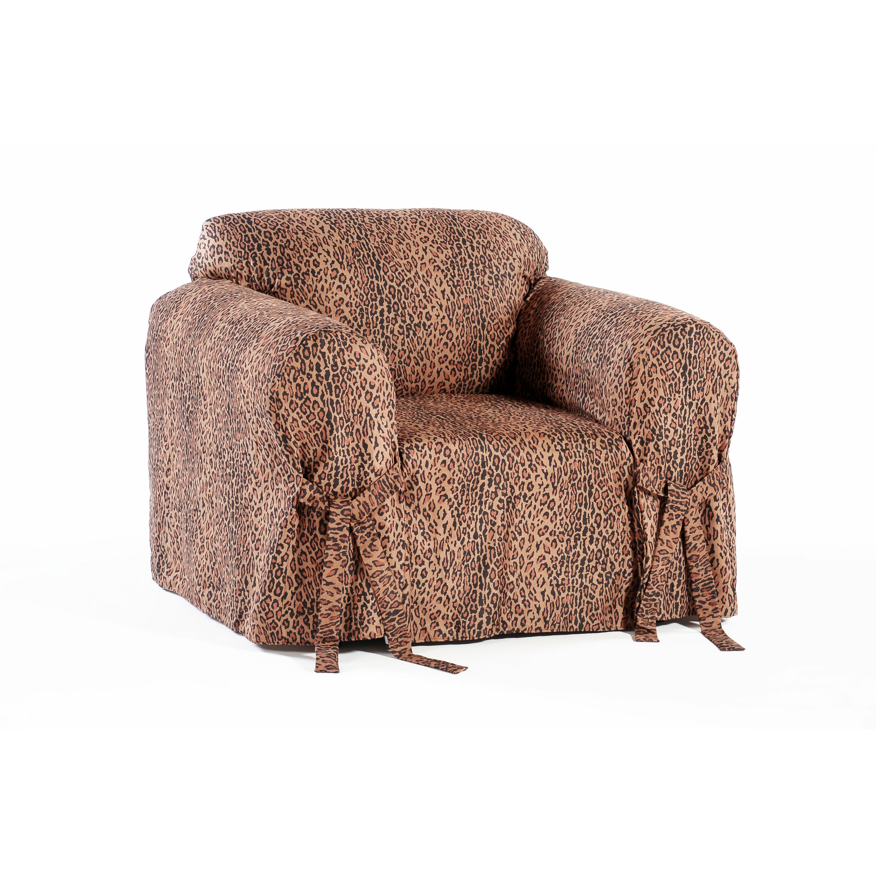 Classic Slipcovers Leopard Print Armchair Slipcover