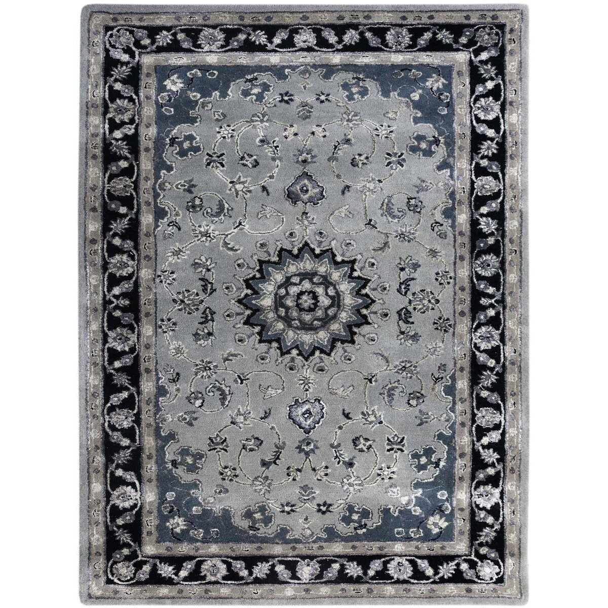 Eternity Landscapes Ocean Area Rug: AMER Rugs Eternity Hand-Tufted Gray/Navy Area Rug