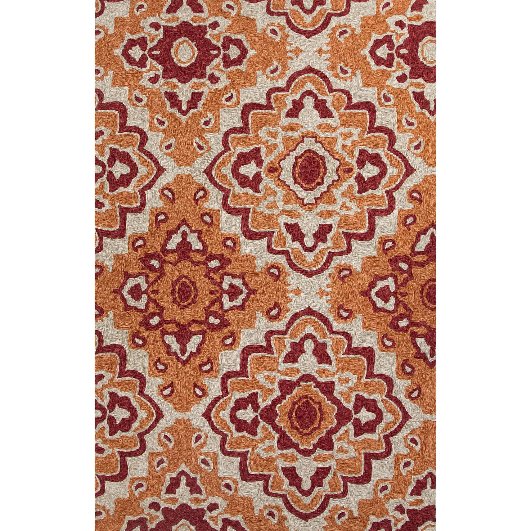 Catalina Orange Moroccan Indoor Outdoor Area Rug