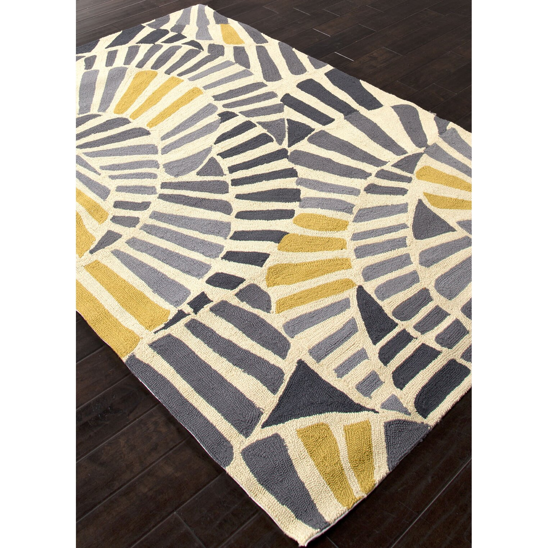 JaipurLiving Yellow Gray Abstract Indoor Outdoor Area Rug