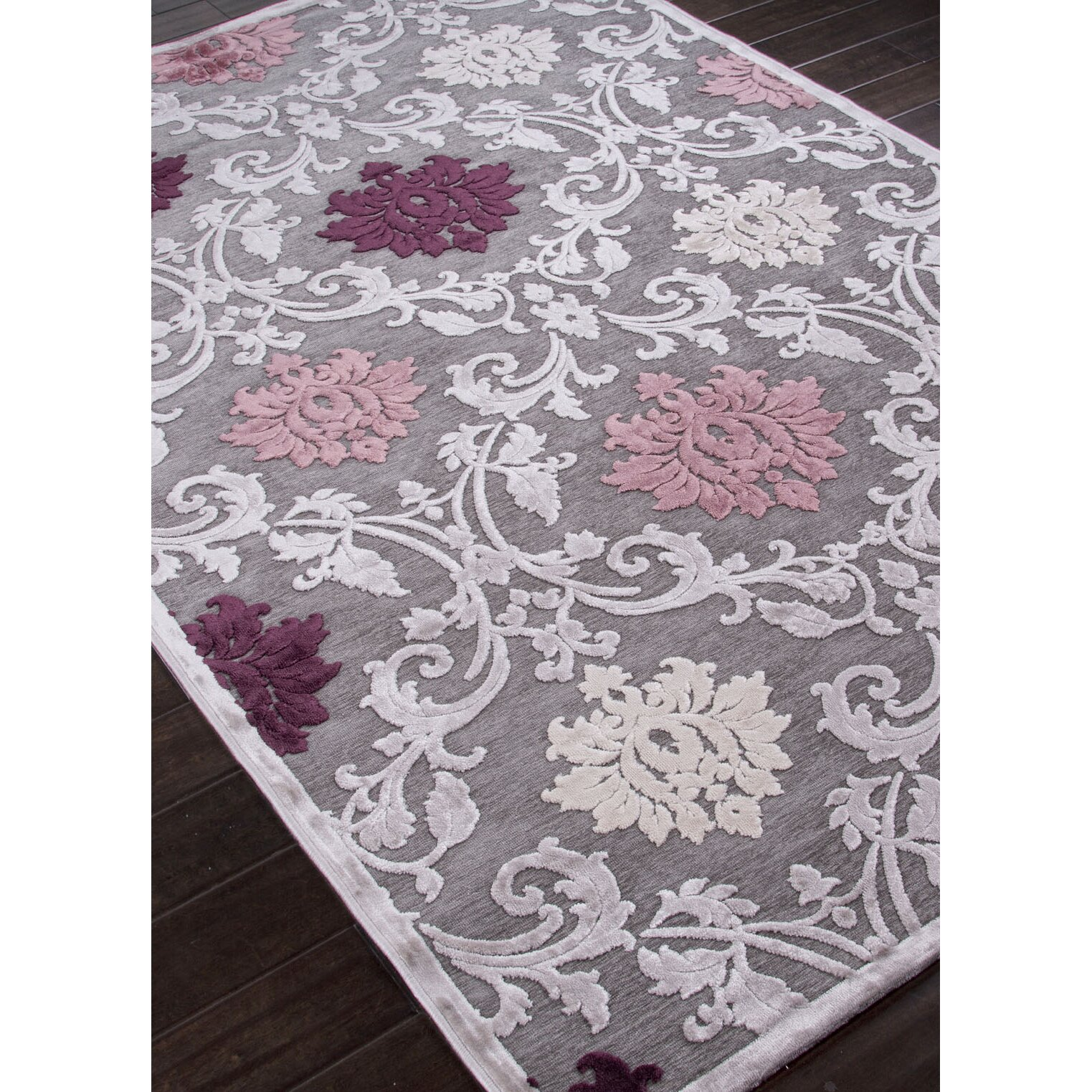 Purple And Lavender Rug: JaipurLiving Fables Gray/Purple Area Rug & Reviews