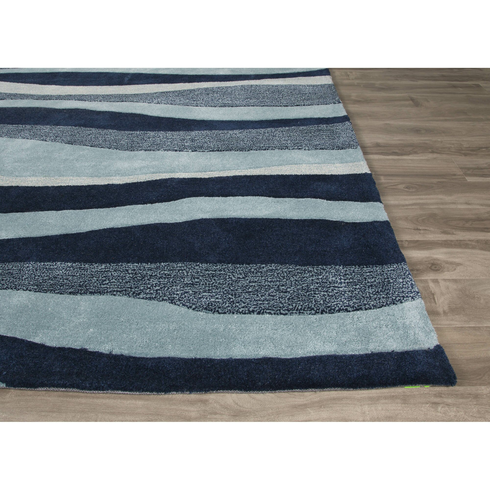 Coastal Tides Hand-Tufted Blue/Ivory Area Rug