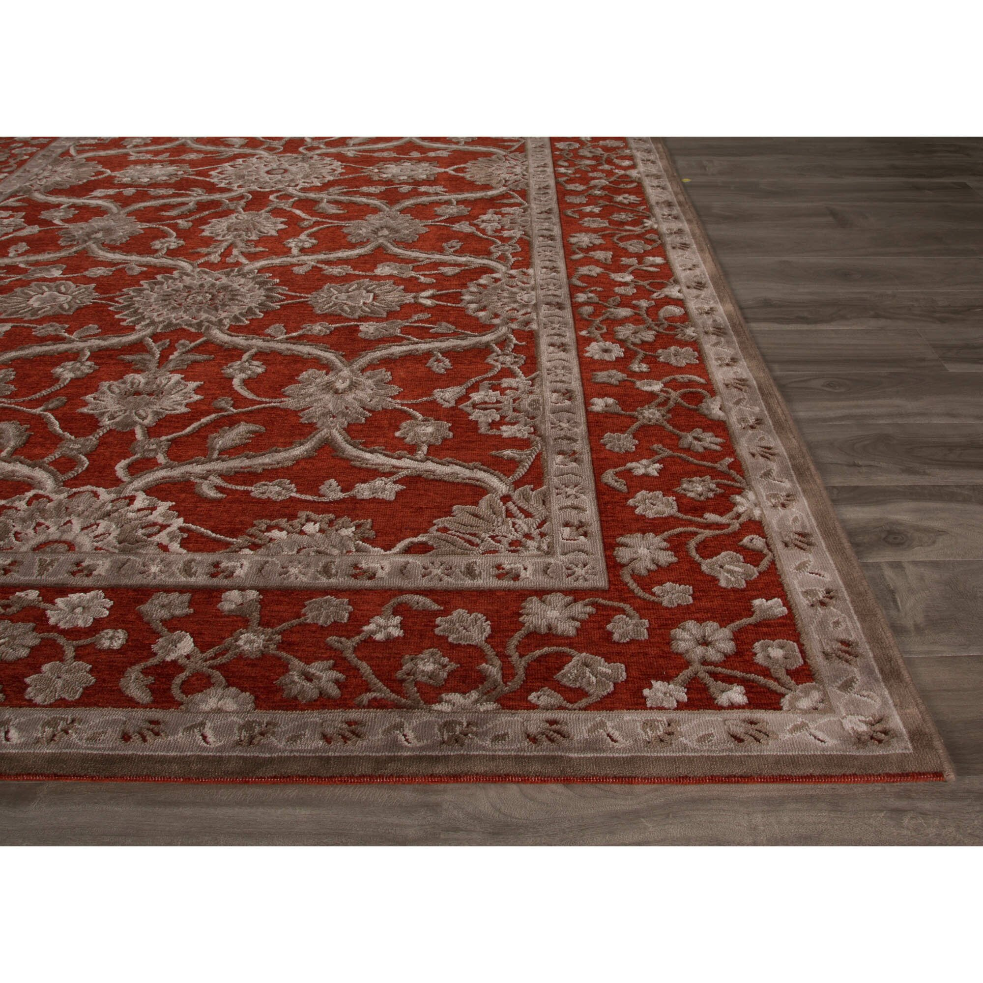 fables red gray area rug wayfair. Black Bedroom Furniture Sets. Home Design Ideas