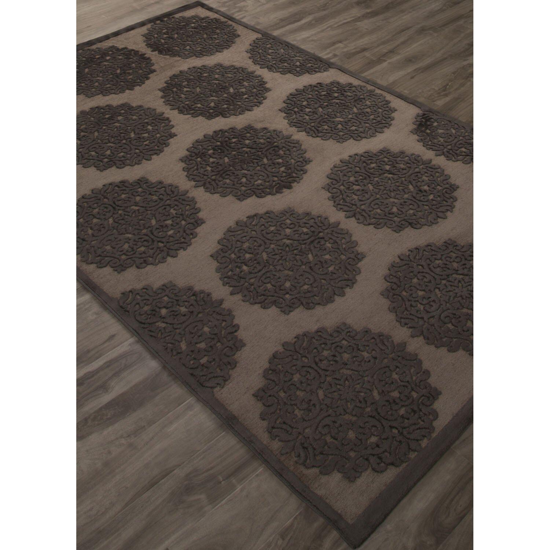 fables gray black area rug wayfair. Black Bedroom Furniture Sets. Home Design Ideas