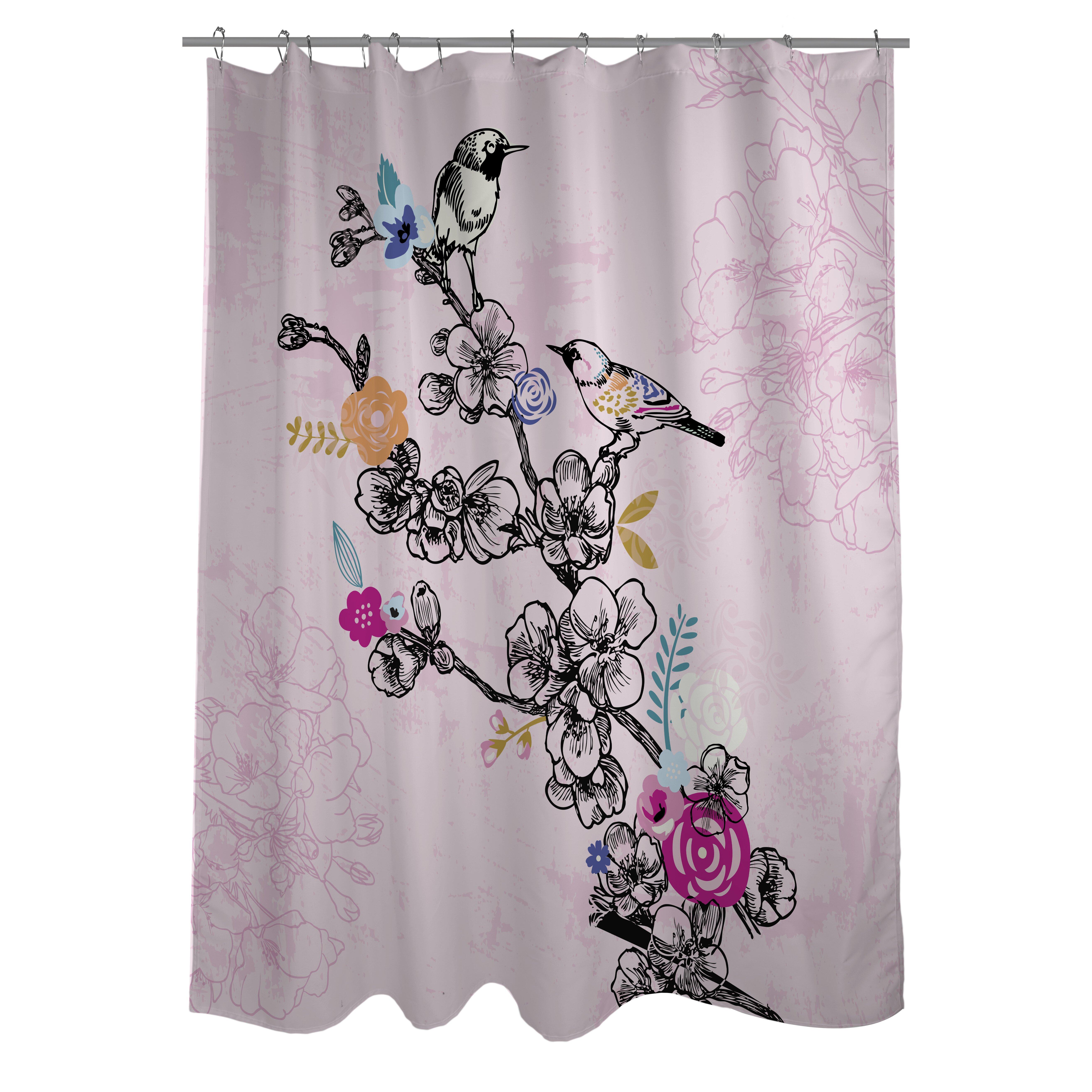 Birds Shower Curtain Wayfair