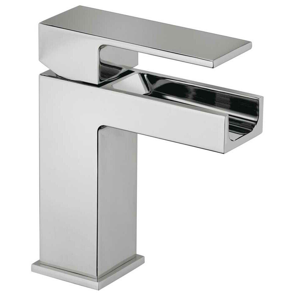 Single Handle Single Hole Lavatory Faucet With Waterfall Spout Wayfair