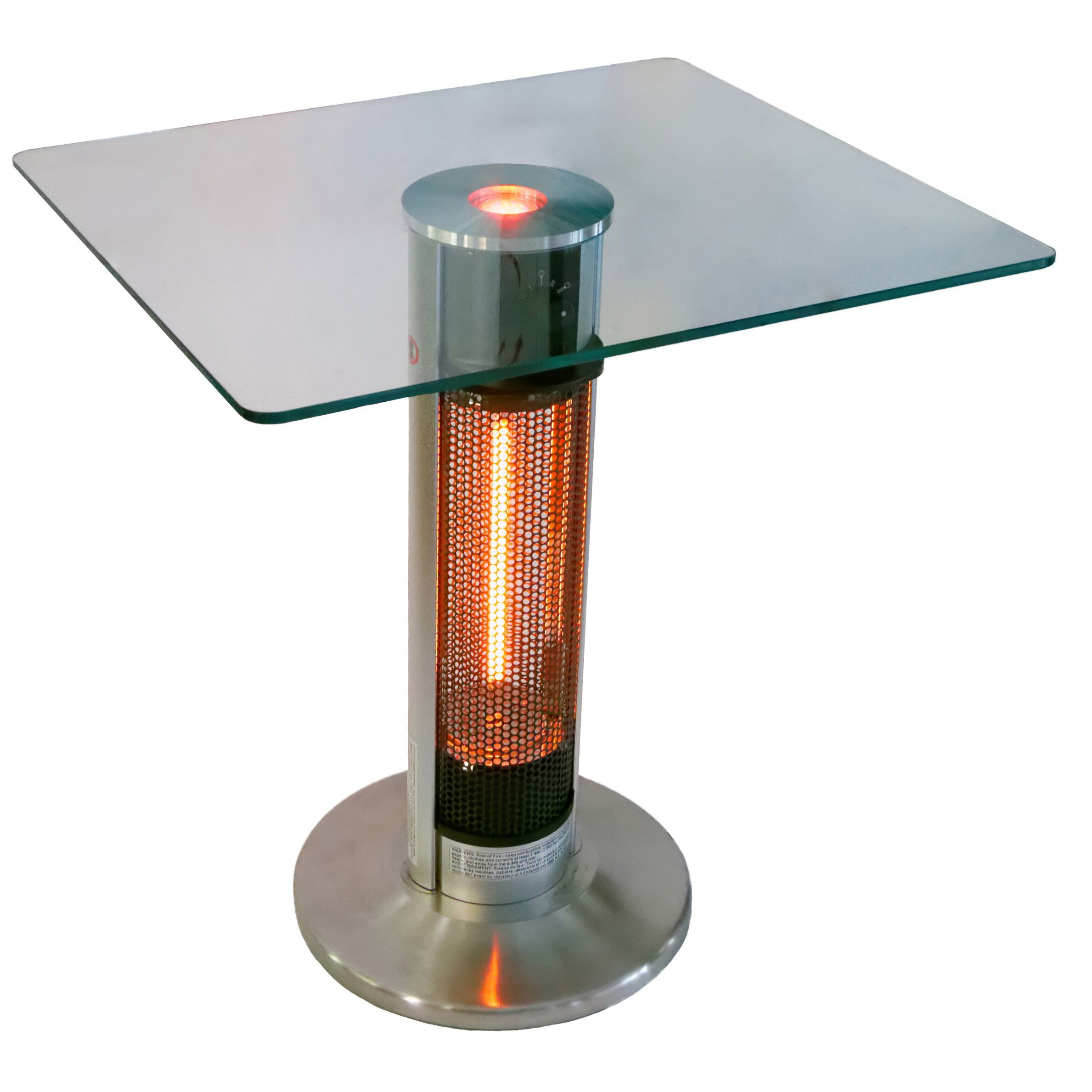 4,760 BTU Portable Electric Infrared Tower Heater with LED Lights by