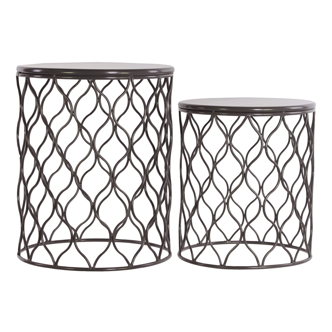 Piece Metal Round End Table Set By Urban Trends