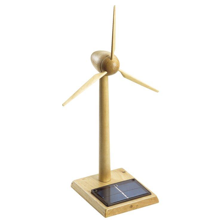 Wooden Solar Powered Wind Turbine Sculpture Wayfair