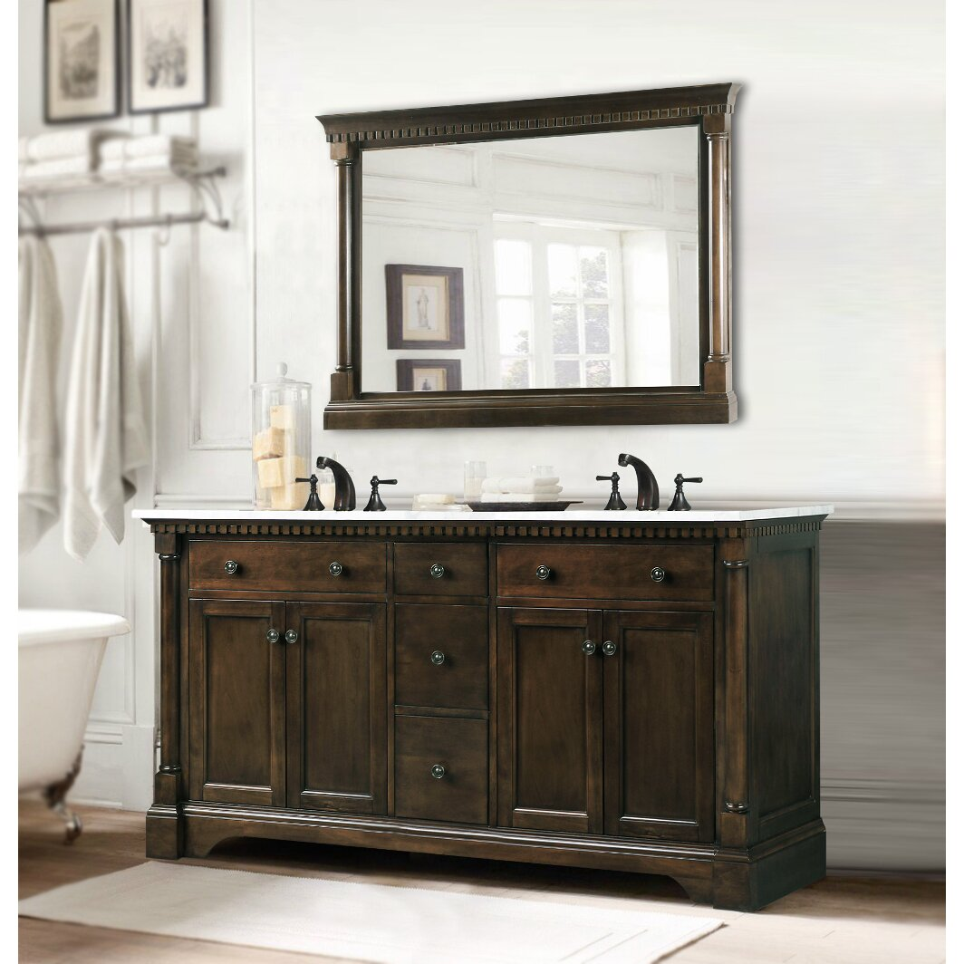 "Legion Furniture 60"" Double Bathroom Vanity Set & Reviews ..."