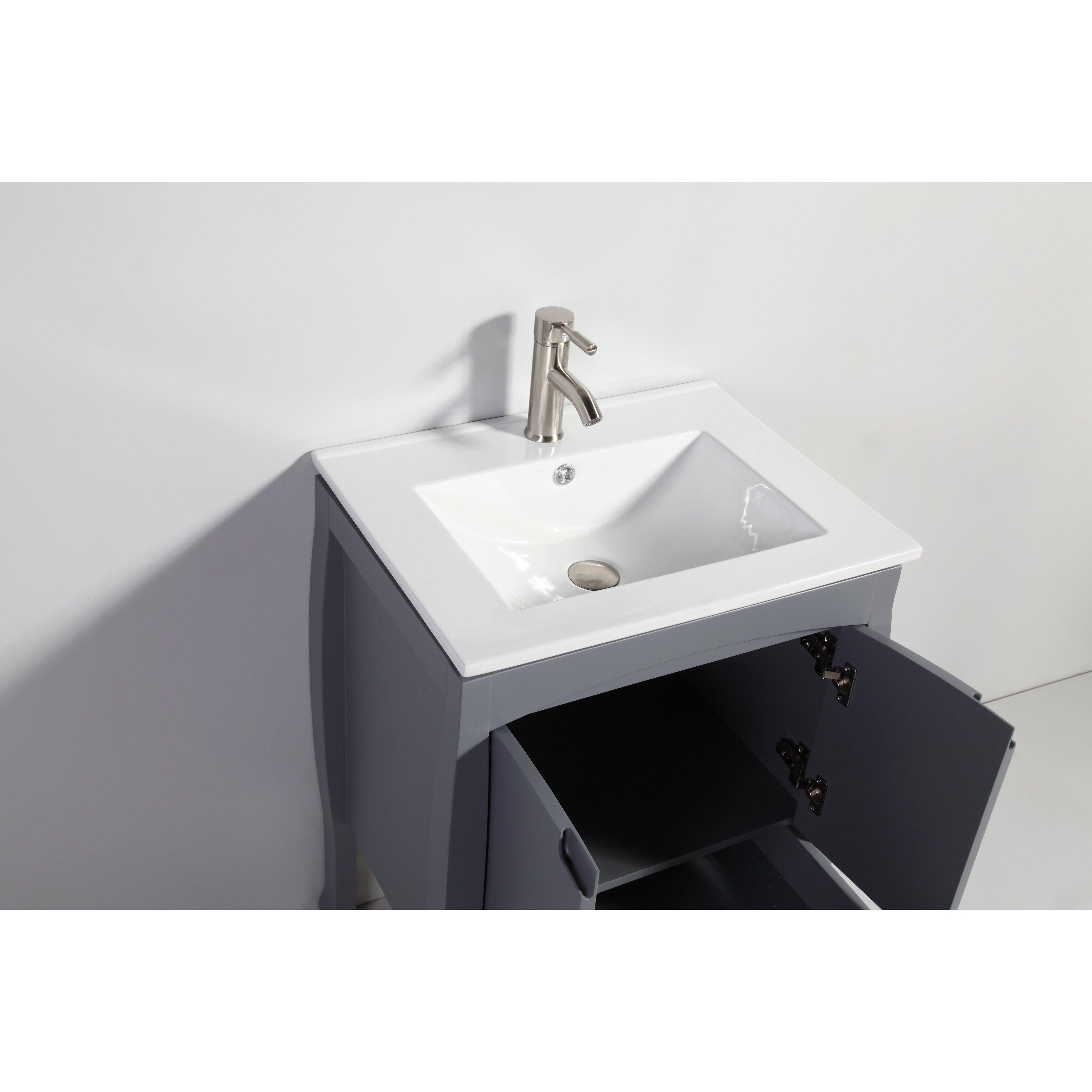 Legion Furniture Wa Series 24 Quot Solid Wood Single Sink