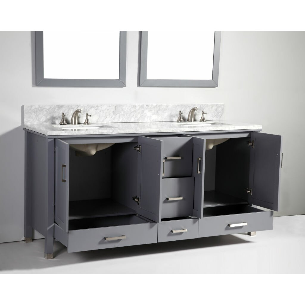 Legion Furniture 72 Quot Soild Wood Double Sink Vanity Set