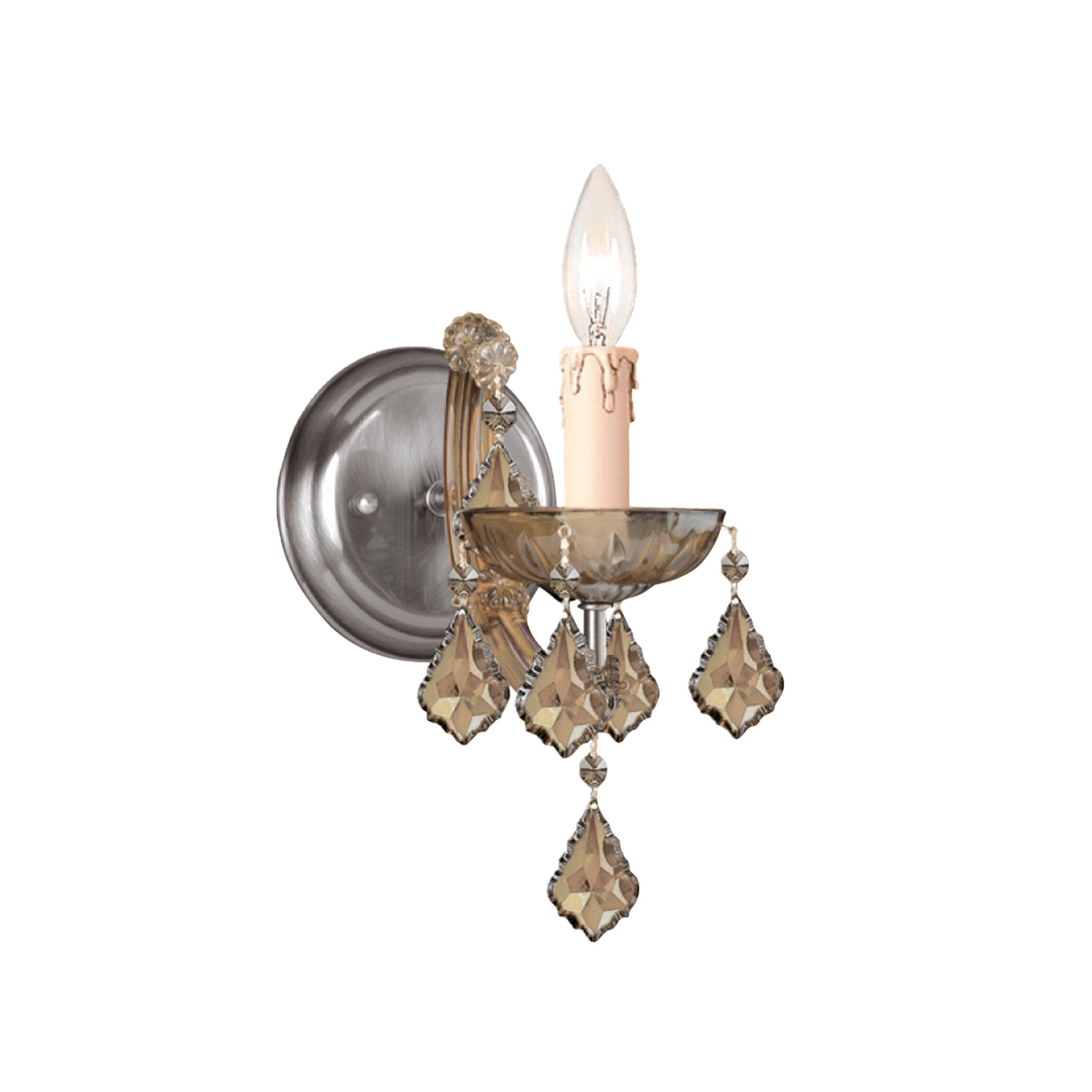 Crystal Wall Sconce Candle Holder : Bohemian Crystal Candle Wall Sconce Wayfair