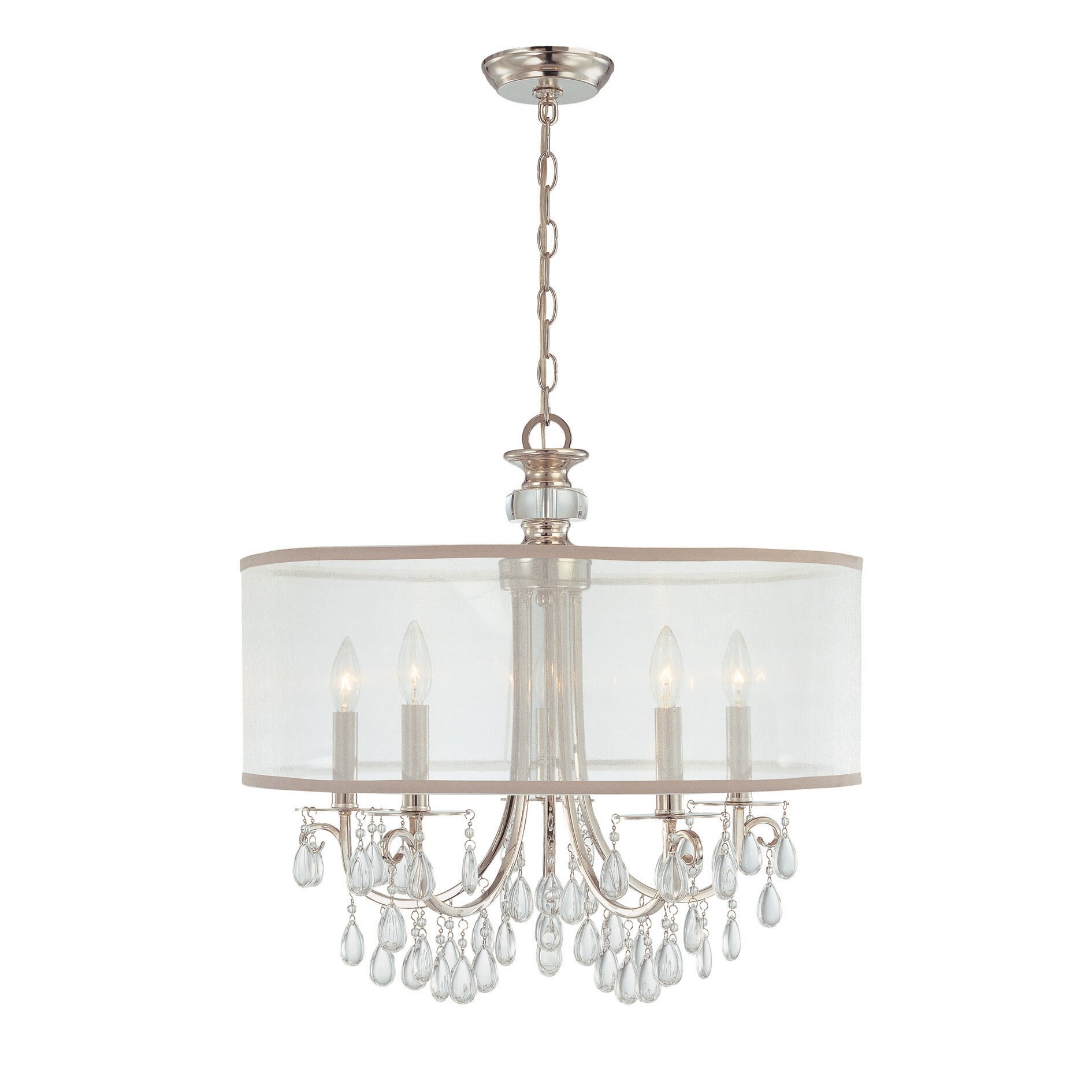 crystorama hampton 5 light chandelier reviews wayfair. Black Bedroom Furniture Sets. Home Design Ideas