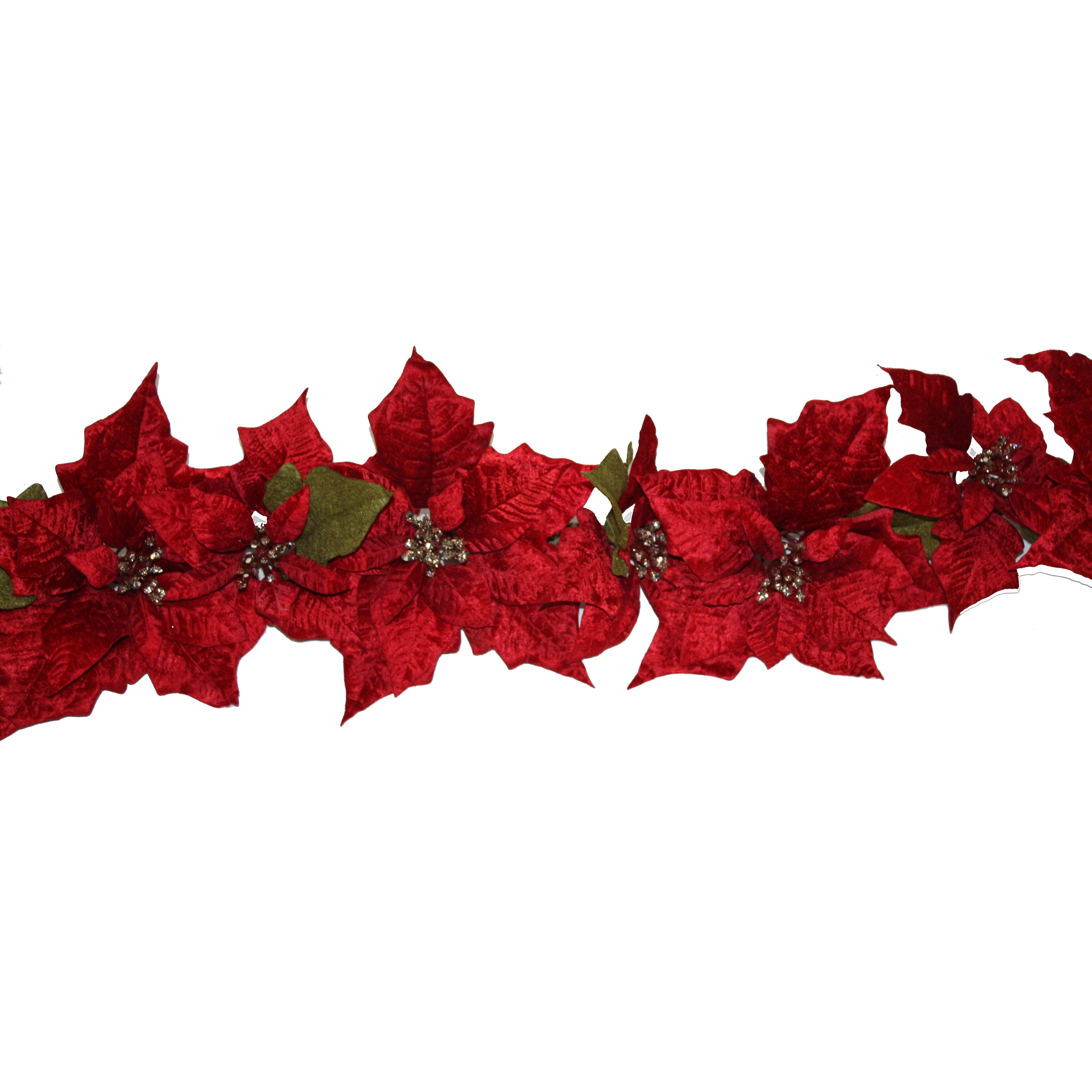 Dyno Seasonal Solutions Christmas Poinsettia Garland