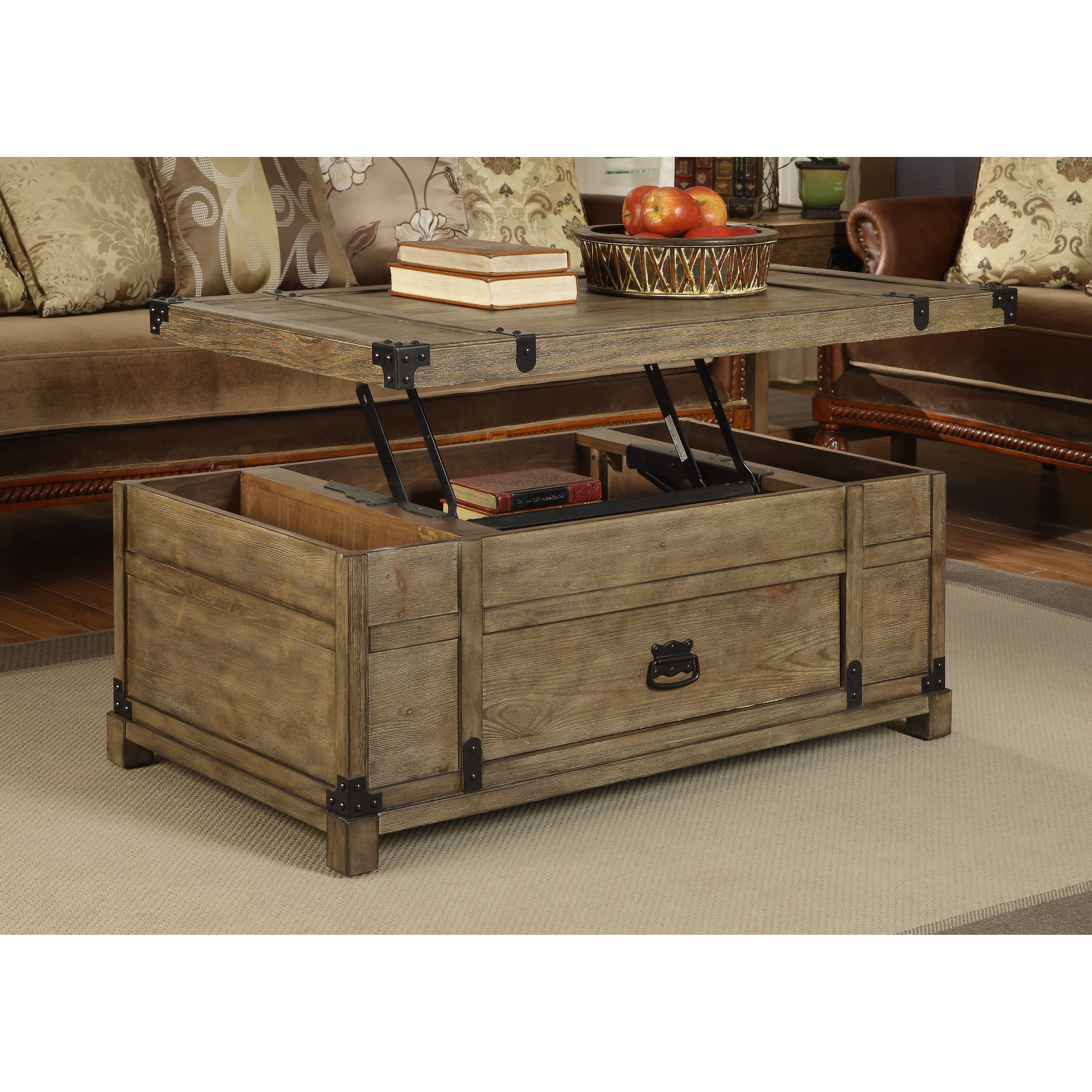 Coast To Coast Imports Treasure Coffee Table With Lift Top Reviews Wayfair