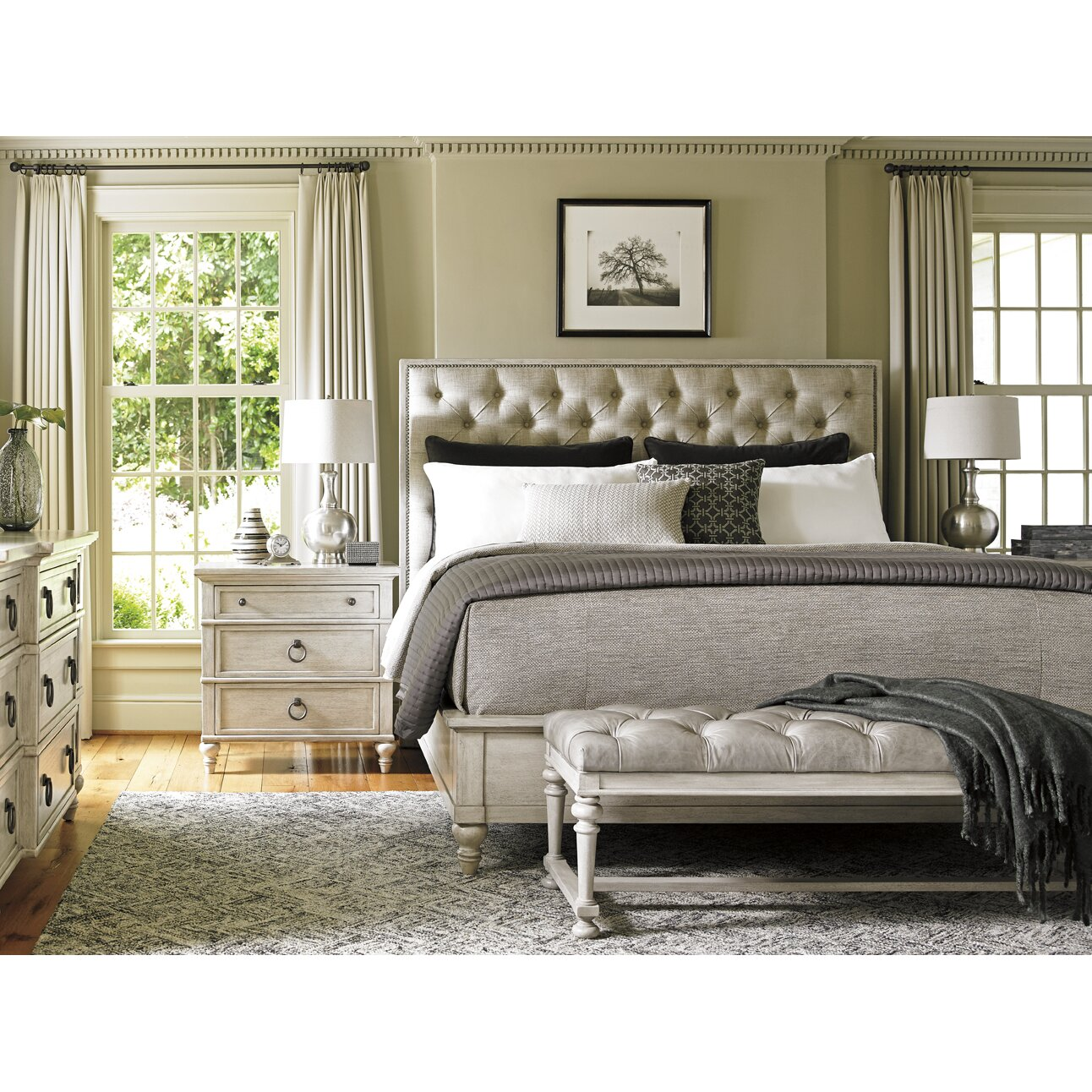 lexington oyster bay upholstery customizable bedroom set reviews