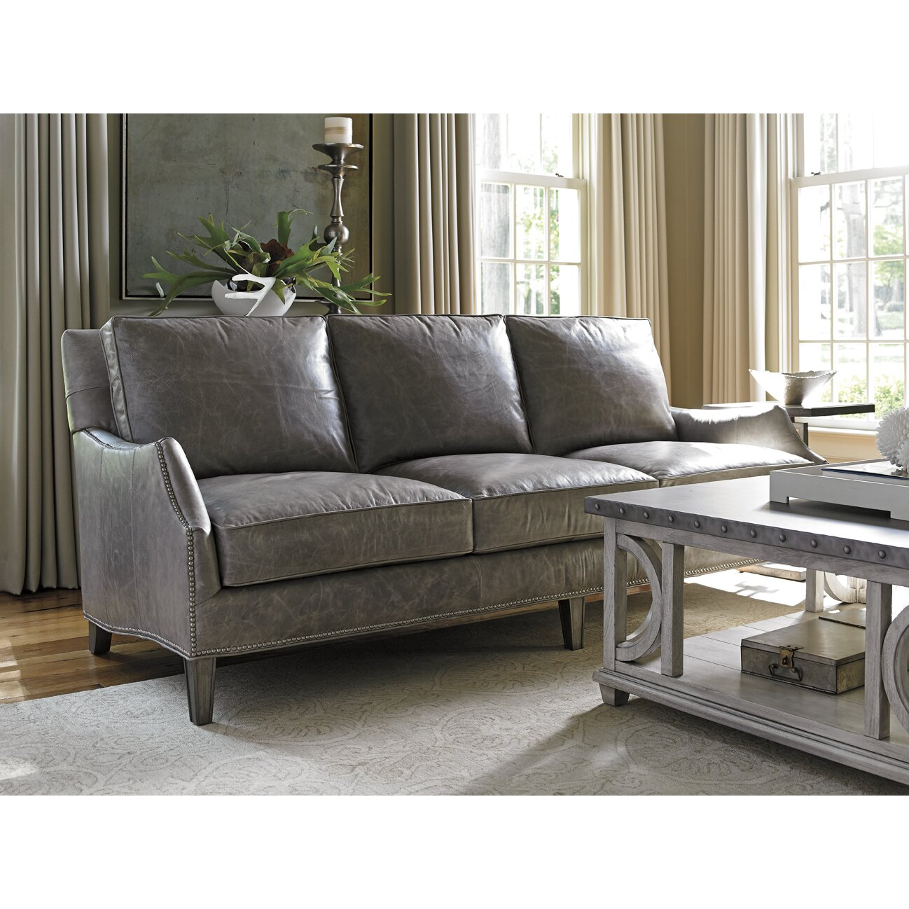 Lexington Oyster Bay Ashton Leather Sofa Amp Reviews Wayfair