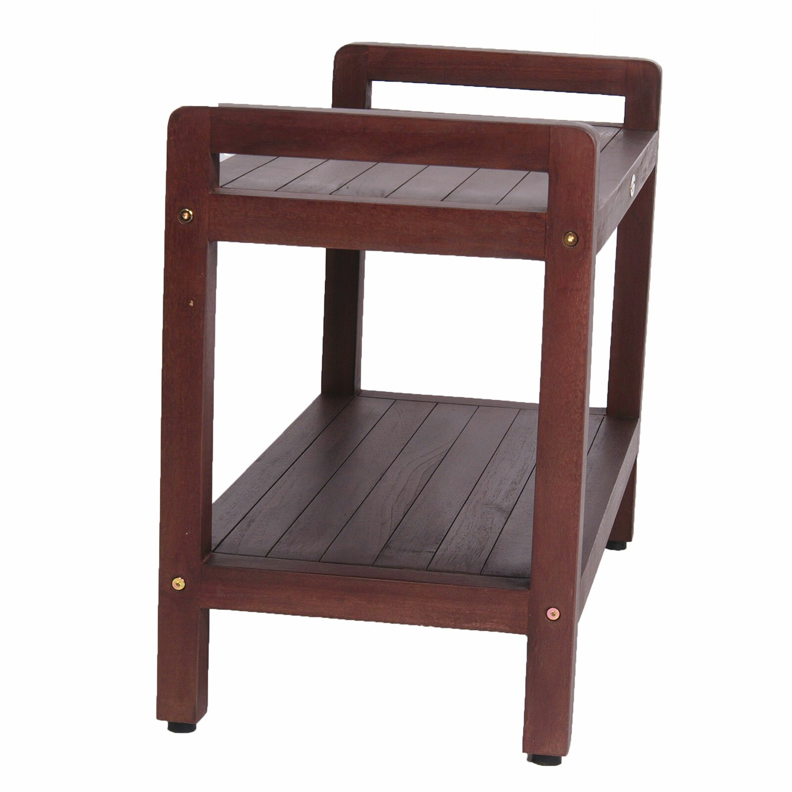Decoteak Lift Aide Ergonomic Teak Spa Shower Bench