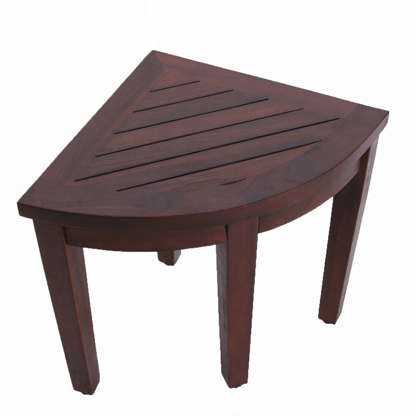 Decoteak oasis teak corner shower seat stool chair bench amp reviews