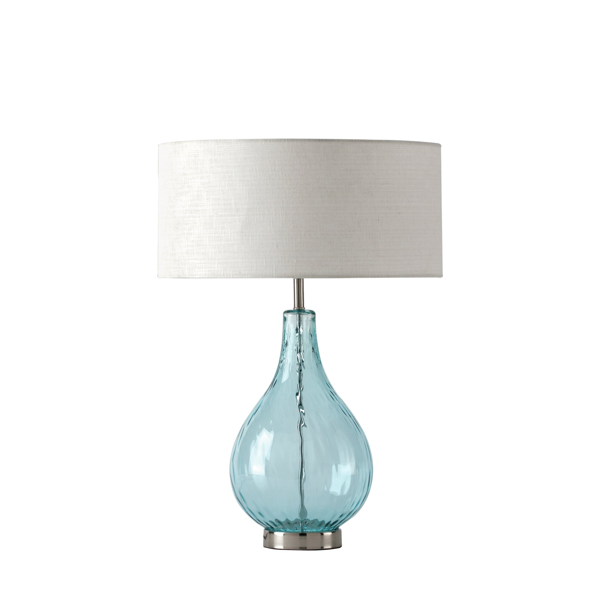 shiraleah lucy 24 table lamp with drum shade reviews. Black Bedroom Furniture Sets. Home Design Ideas