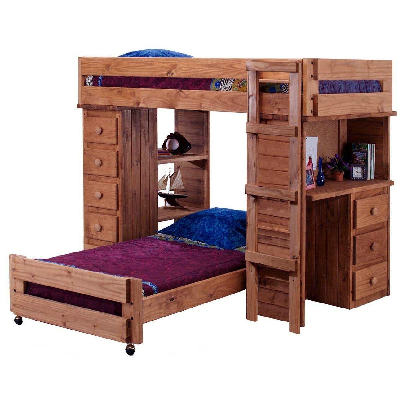 twin l shaped bunk bed wayfair. Black Bedroom Furniture Sets. Home Design Ideas