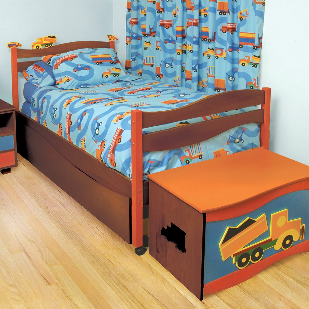 Room Magic Boys Like Trucks Twin Panel Bed & Reviews | Wayfair