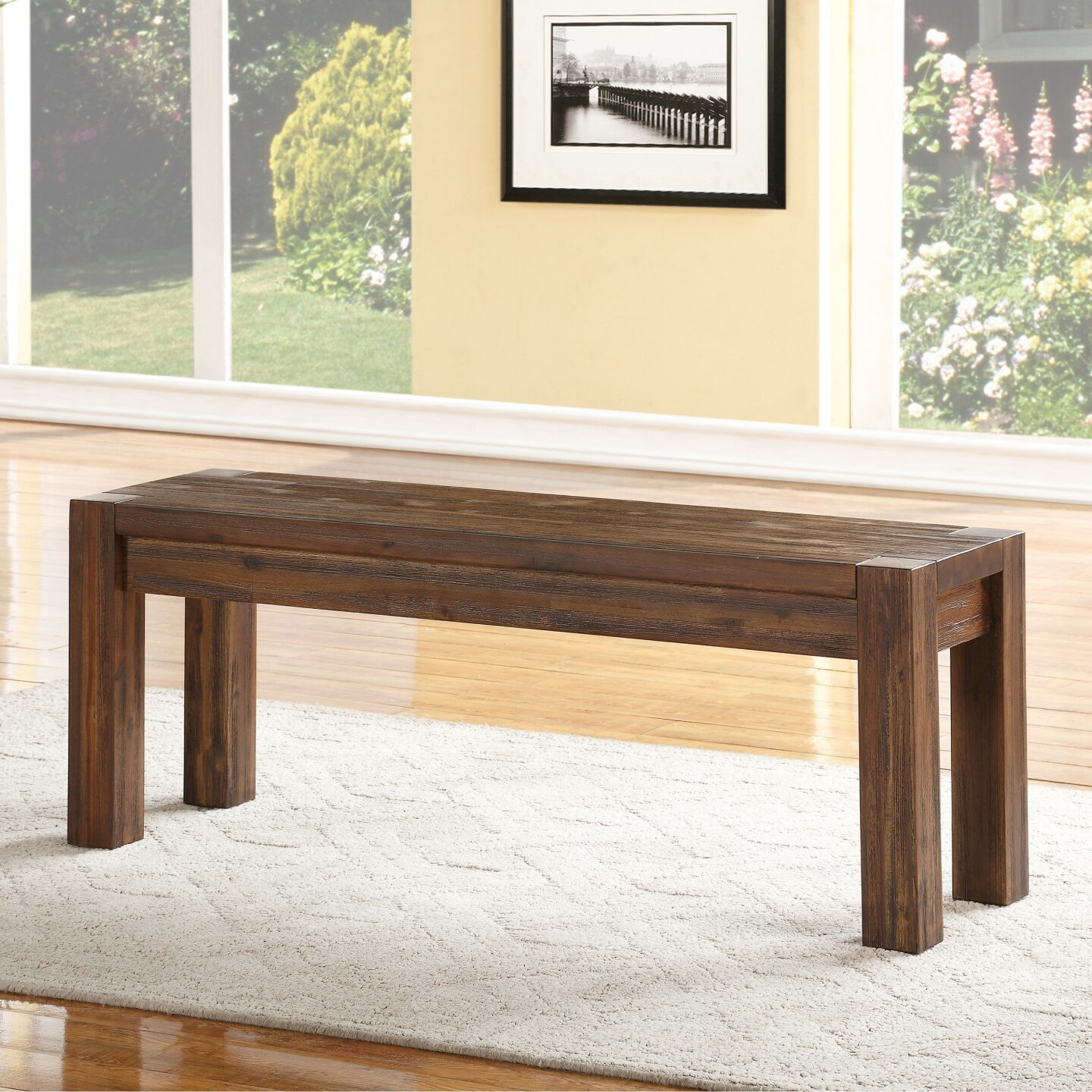 Modus Furniture Urban Seating Storage Bench Natural Linen: Modus Meadow Two Seat Bench & Reviews