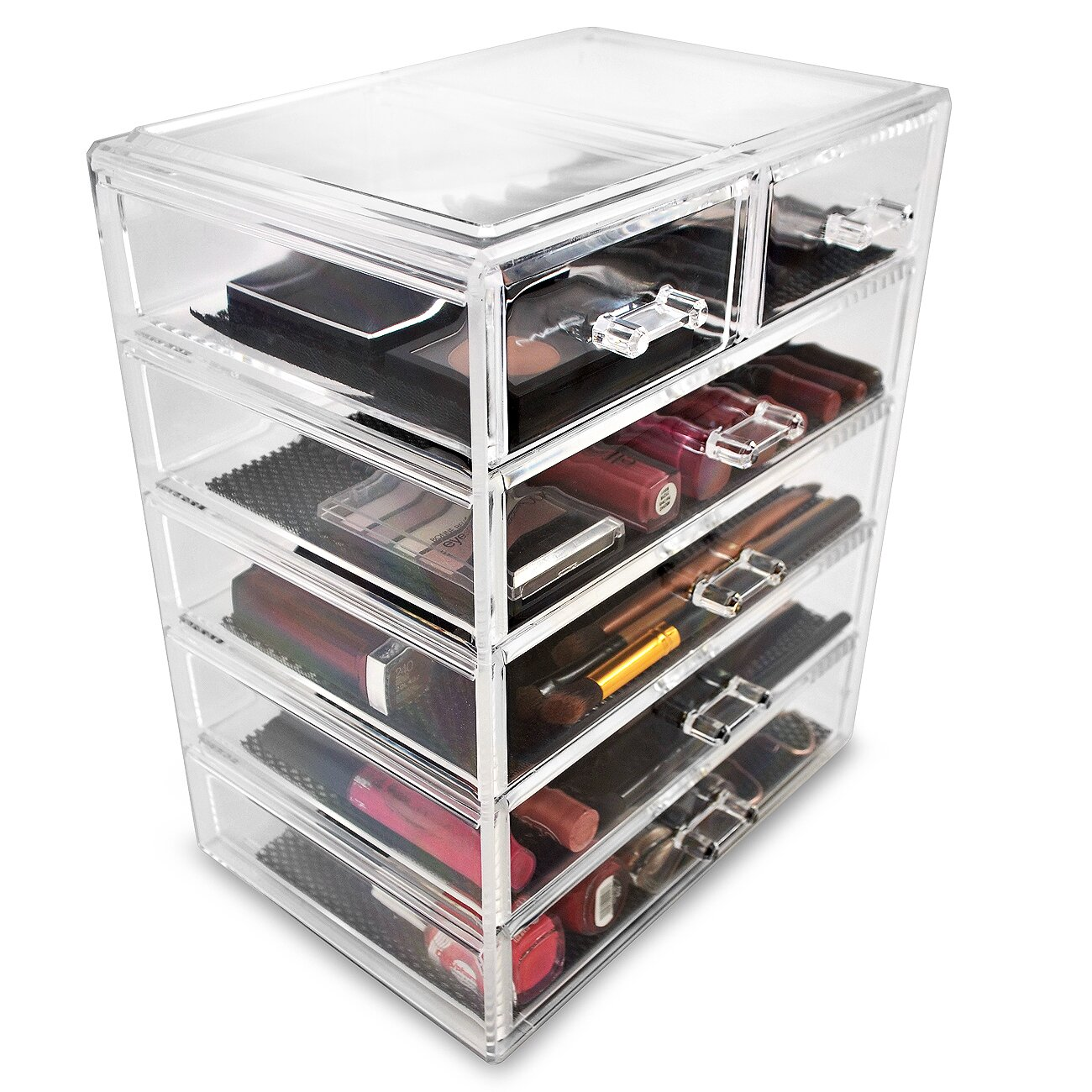 ... International Acrylic 6 Drawer Makeup Organizer with Removable Drawers
