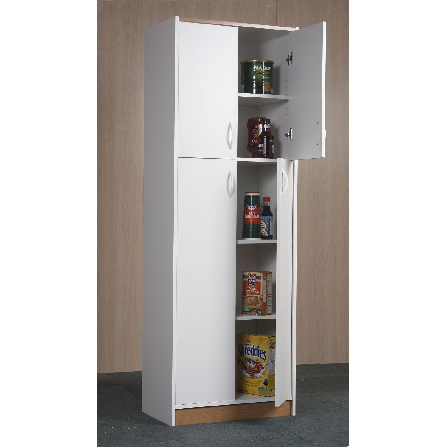 pantry cabinet kitchen cabinet pantry unit with food pantries wayfair with kitchen microwave. Black Bedroom Furniture Sets. Home Design Ideas