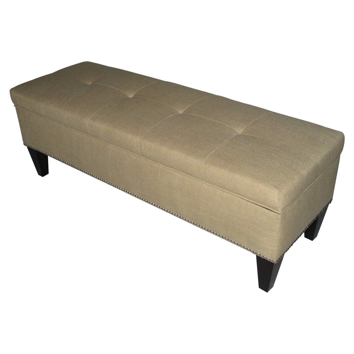 Sole Designs Brooke Upholstered Storage Bench In Sand Reviews Wayfair