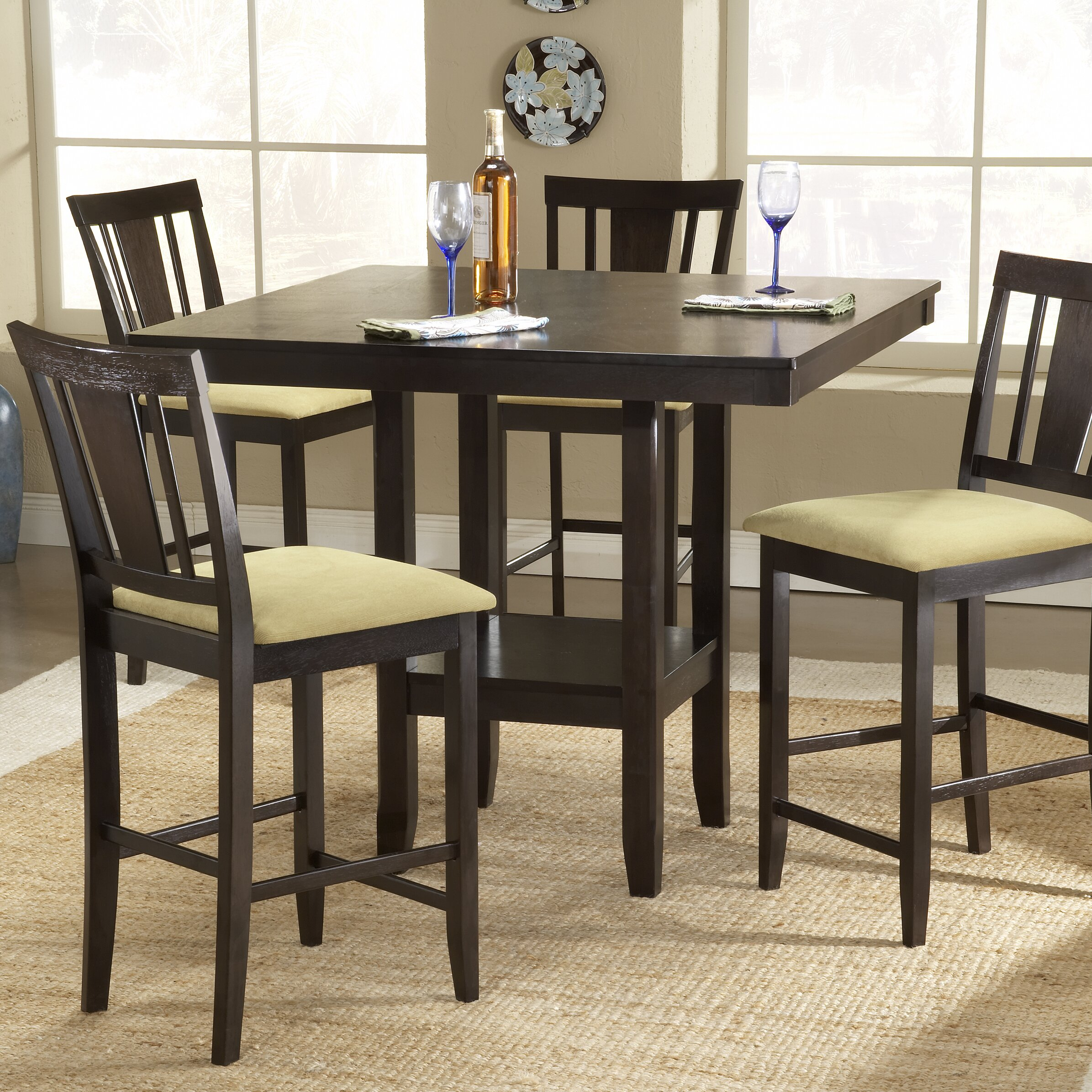 hillsdale furniture arcadia counter height dining table