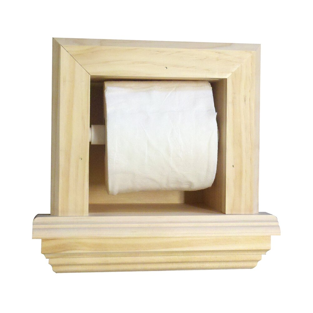 Wg wood products recessed toilet paper holder reviews Wood toilet paper holders