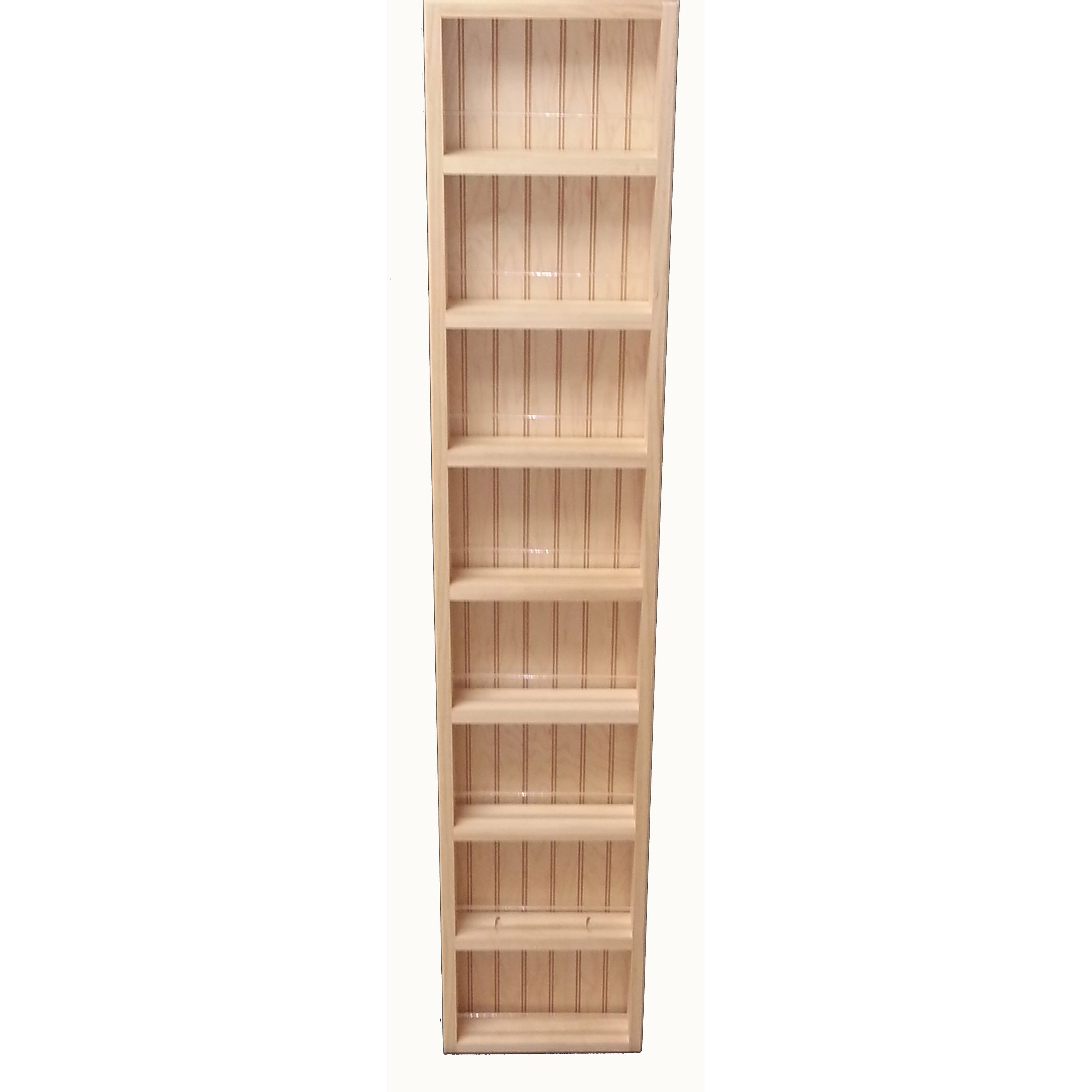 WG Wood Products Midland Premium Wall Mounted Spice Rack ...