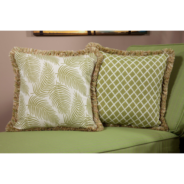 Palm Indoor Outdoor Sunbrella Throw Pillow
