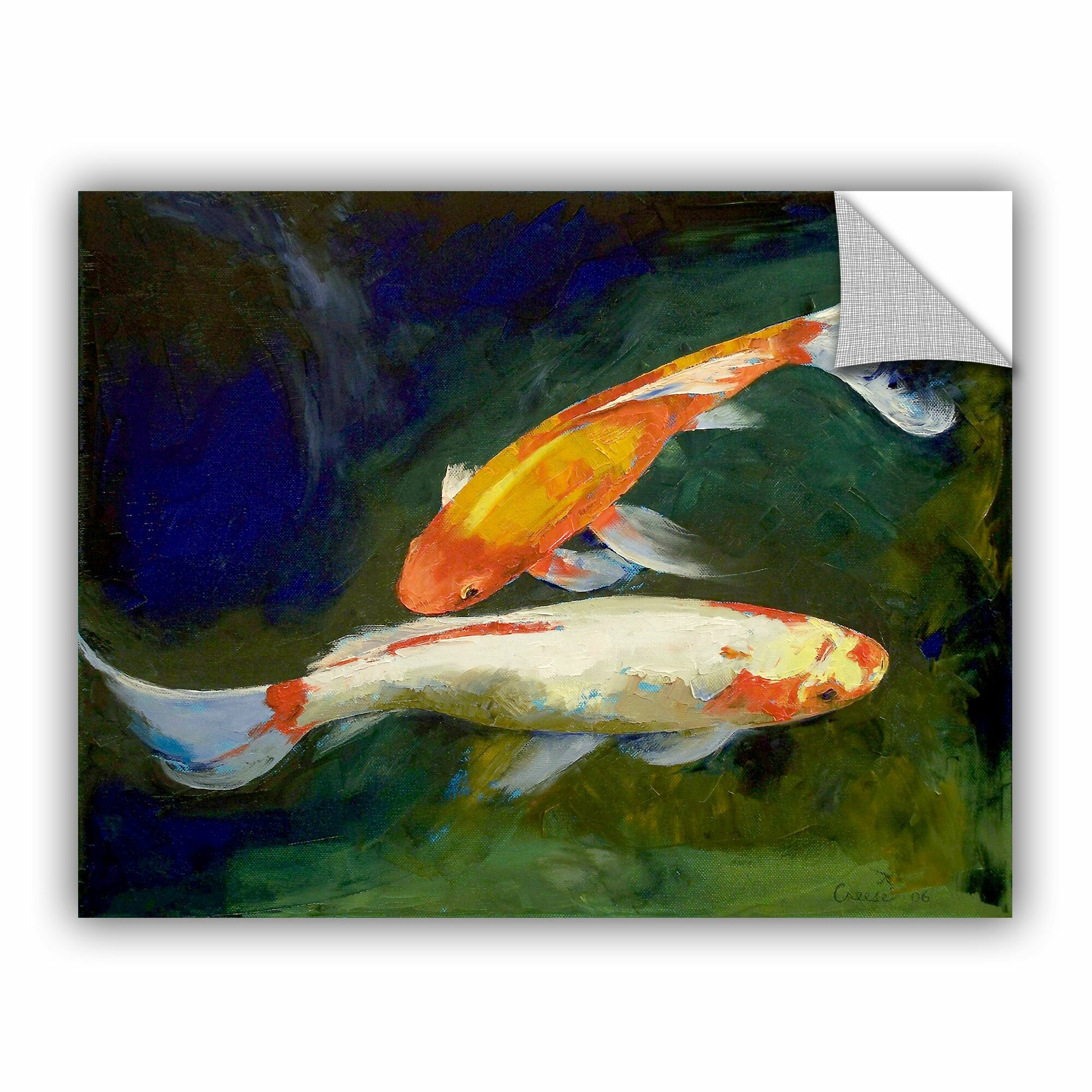 Artapeelz feng shui koi fish by michael creese painting for Koi canvas print