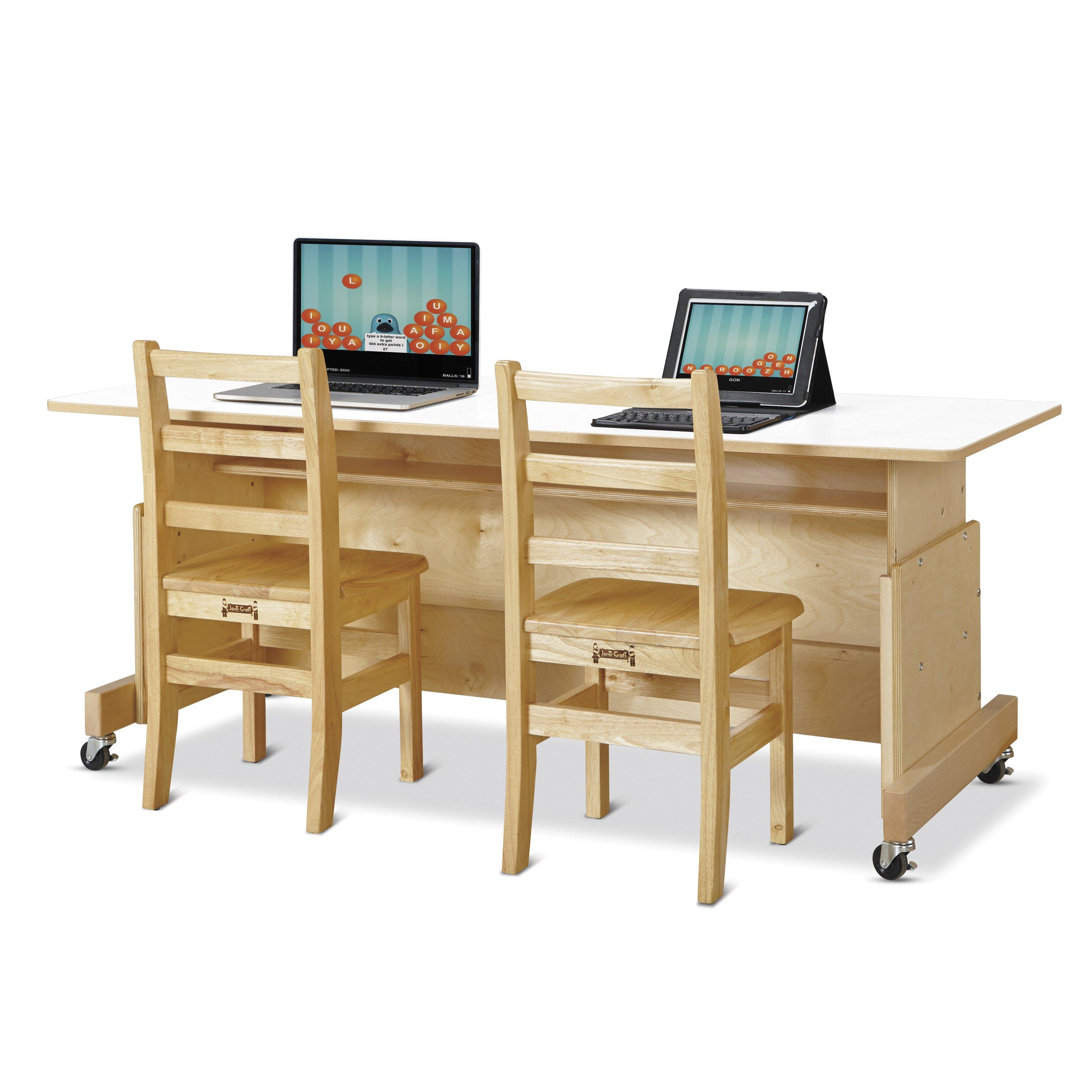 Apollo Wood Adjustable Height puter Desk