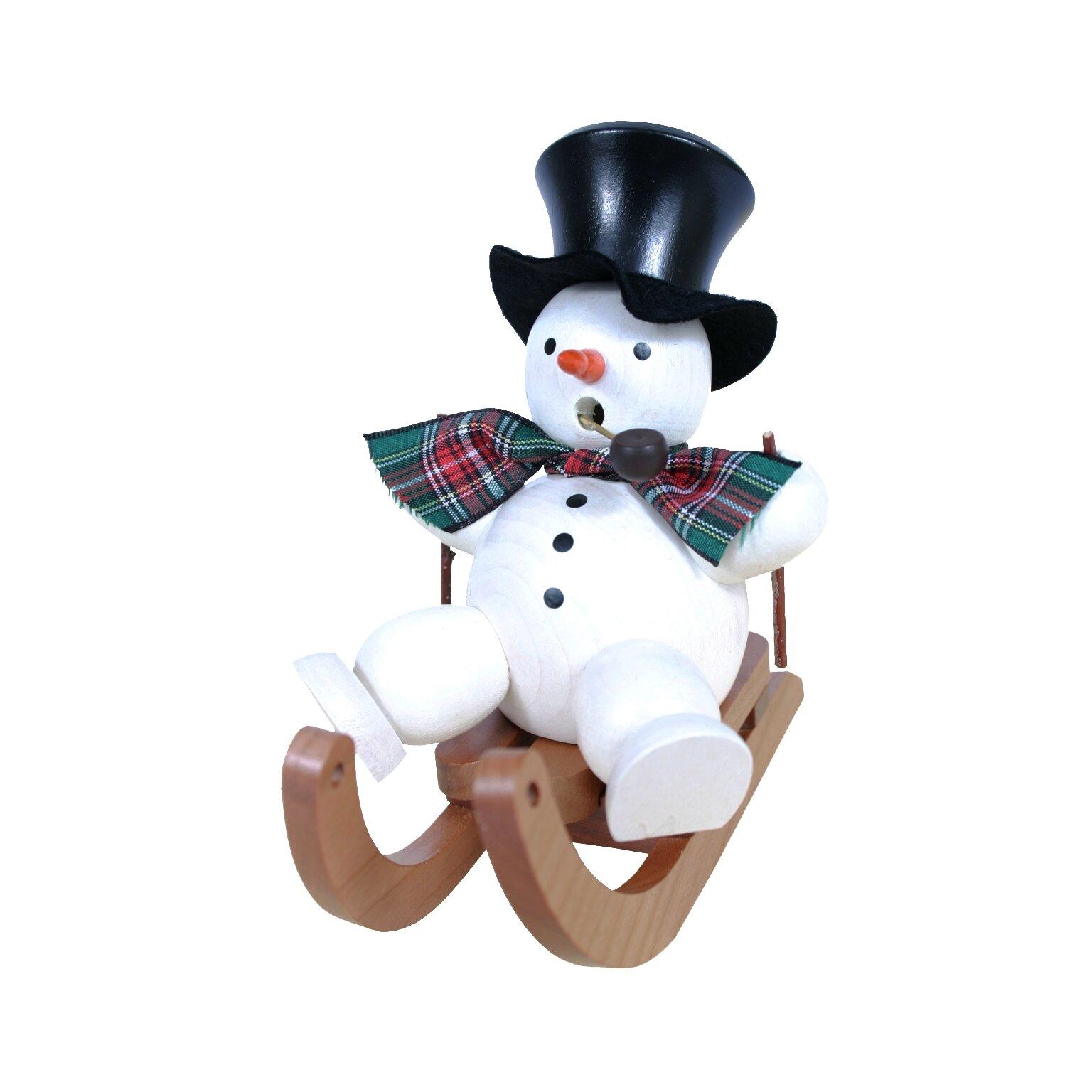 Snowman On Sled Incense Burner Wayfair