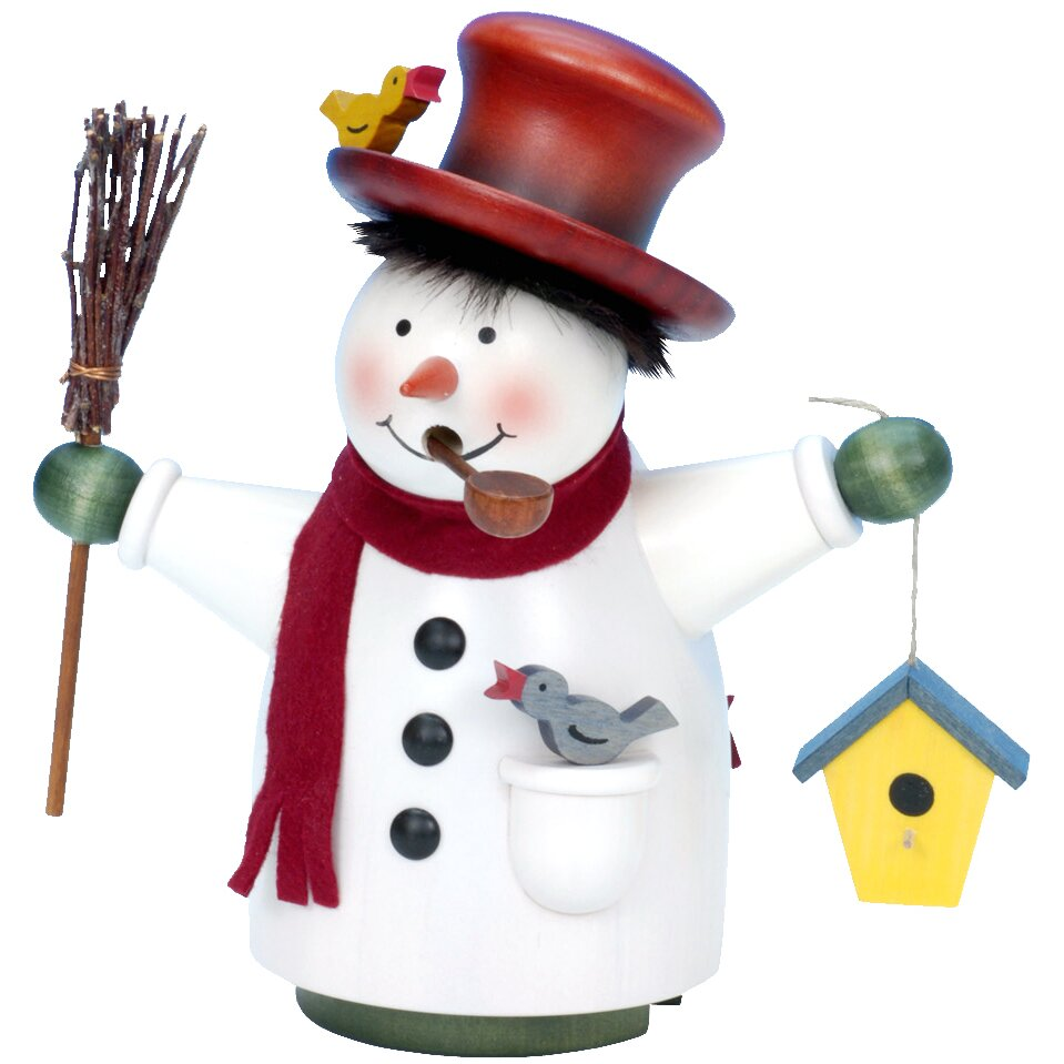 Snowman With Broom And Birdhouse Incense Burner Wayfair