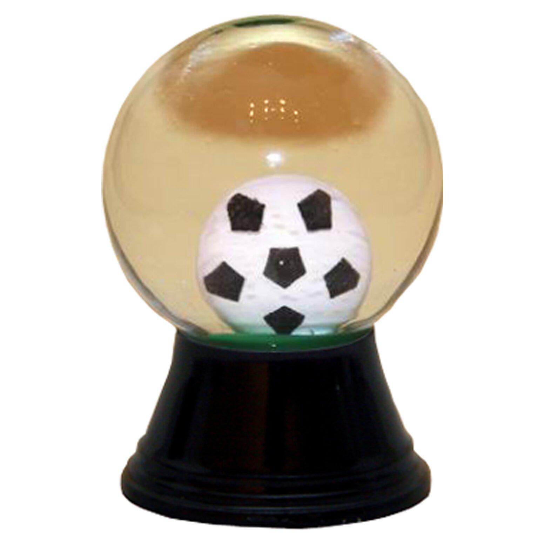 soccer snow globe