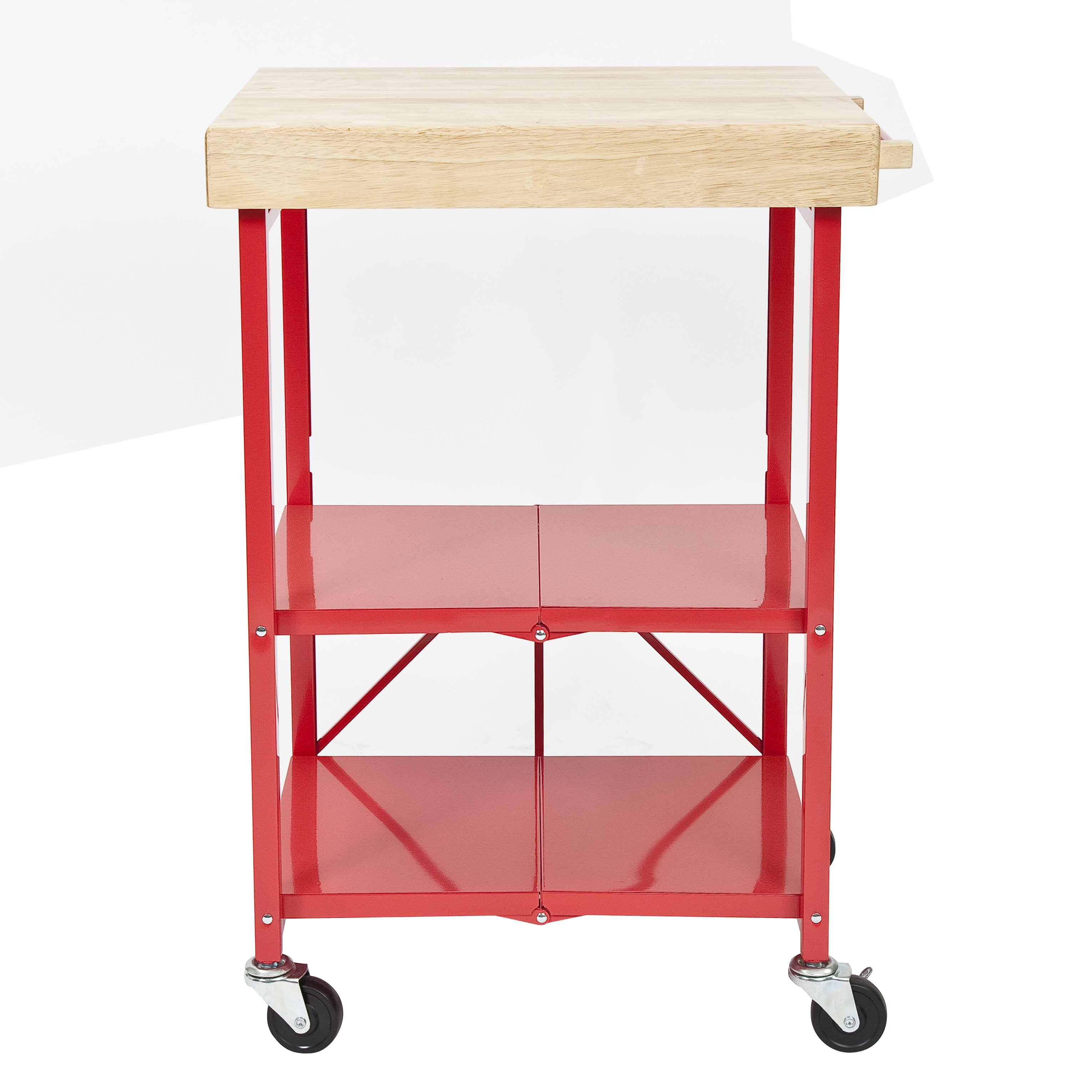 Origami Kitchen Cart with Wood Top & Reviews | Wayfair - photo#17